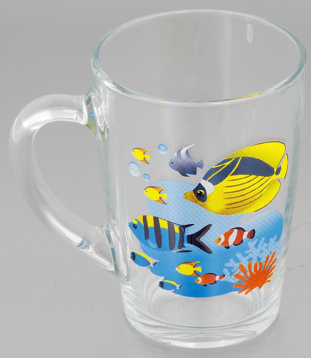 """Кружка OSZ """"Капучино. Яркие рыбки"""", 300 мл"""