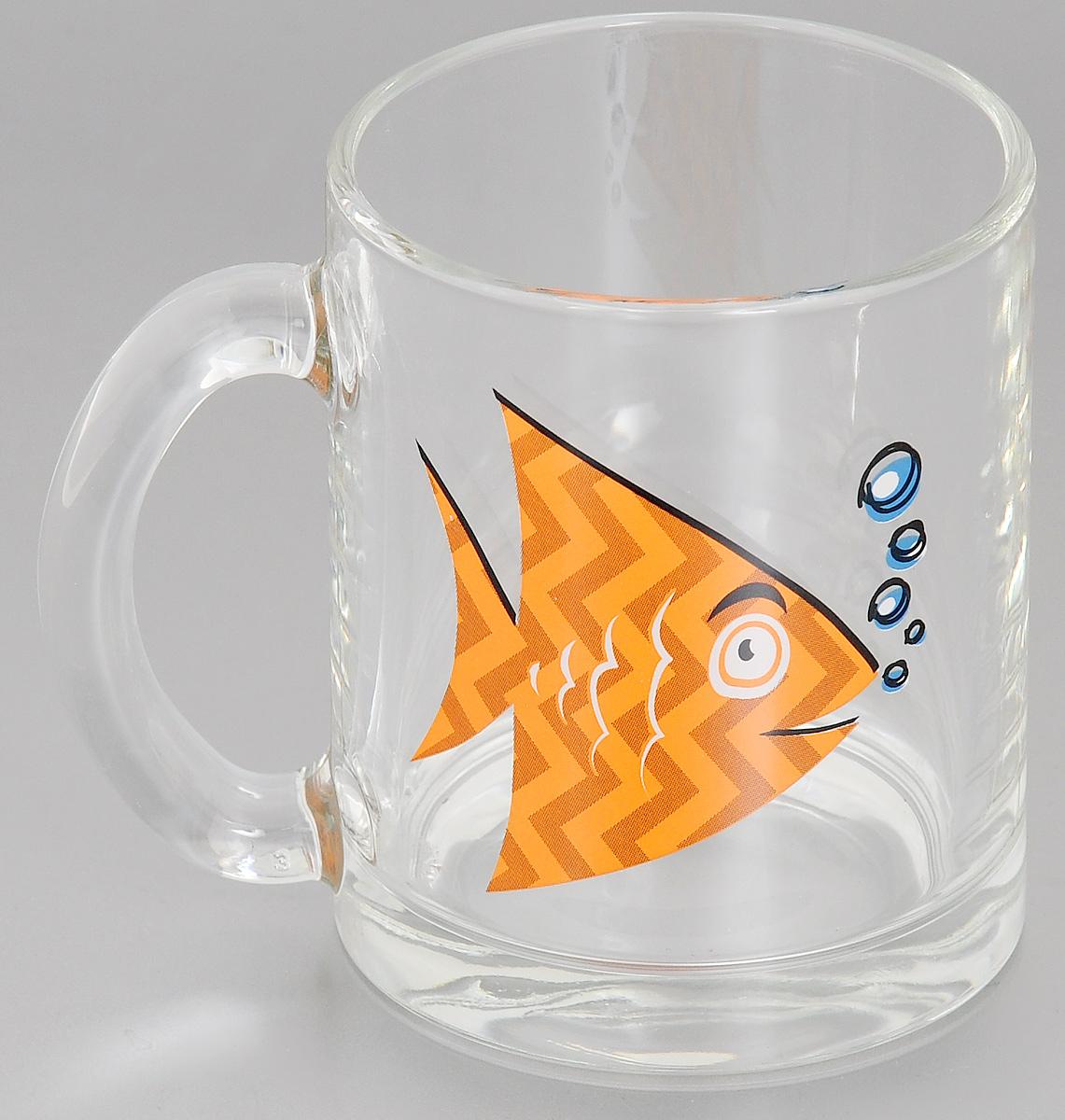 Кружка OSZ Рыбки, цвет: прозрачный, оранжевый, 320 мл04С1208 ДЗ РЫБКИ_прозрачный, оранжевыйКружка OSZ Рыбки изготовлена из стекла и украшена ярким рисунком. Изделие оснащено удобной ручкой и сочетает в себе лаконичный дизайн и функциональность. Кружка OSZ Рыбки не только украсит ваш кухонный стол, но и подчеркнет прекрасный вкус хозяйки. Диаметр кружки (по верхнему краю): 7,7 см.