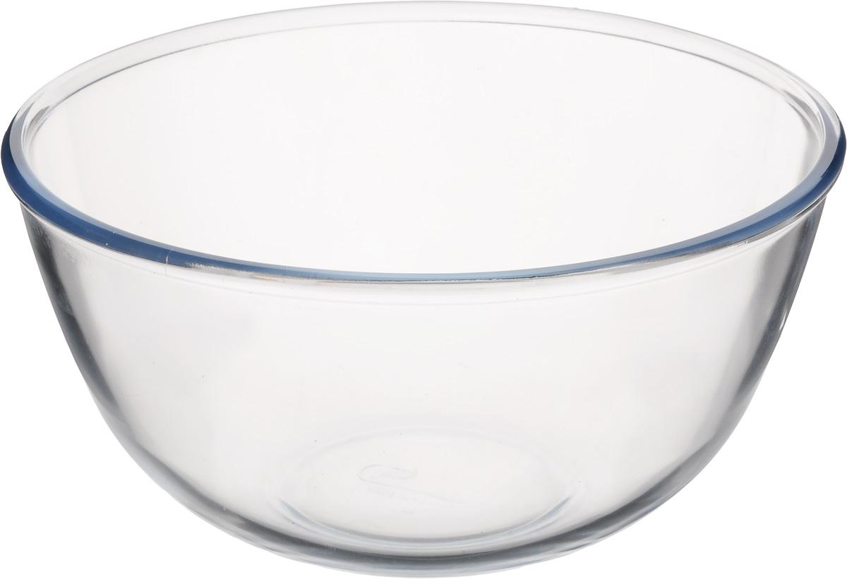 Салатник Pyrex Classic, 3 л181B000Салатник Pyrex Classic выполнен из ударопрочного стекла и имеет классическую круглую форму. Яркий дизайн придется по вкусу и ценителям классики, и тем, кто предпочитает утонченность и изысканность. Салатник Pyrex Classic идеально подойдет для сервировки стола и станет отличным подарком к любому празднику. Диаметр салатника (по верхнему краю): 21 см.