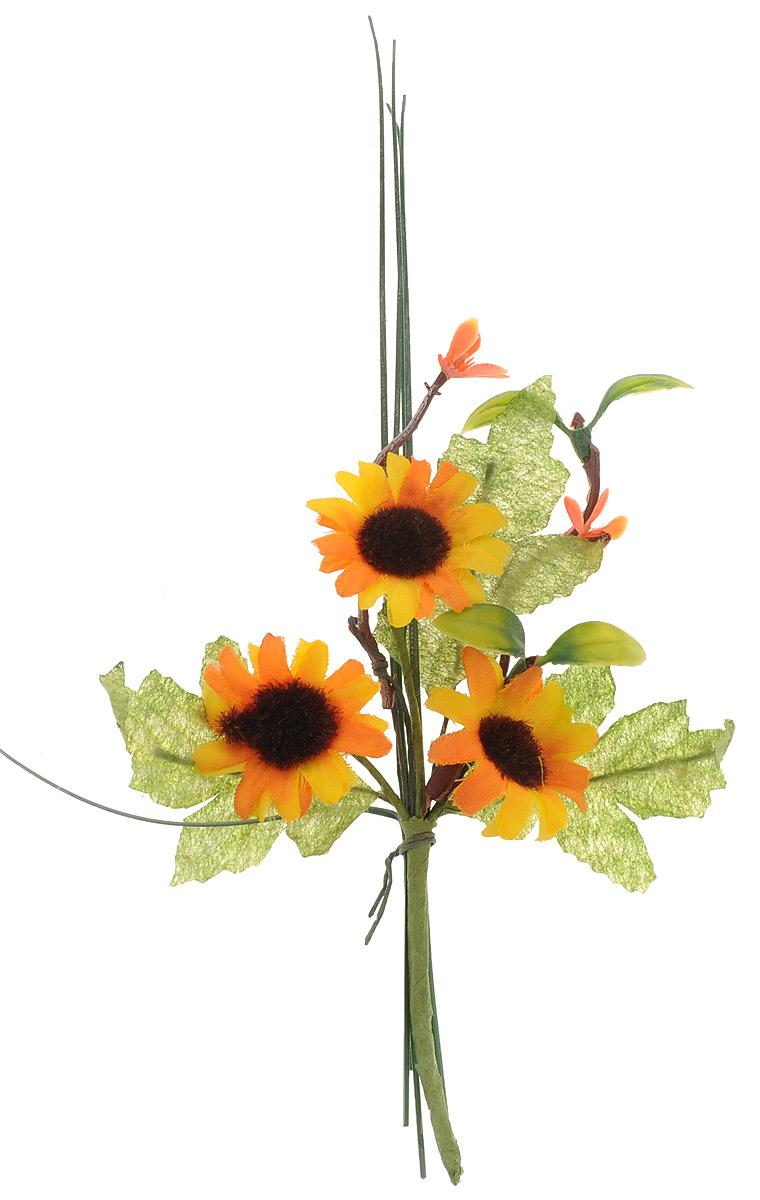 Украшение декоративное Астра Желтые цветы7714199Декоративное украшение Астра Желтые цветы отлично подойдет для декорирования интерьера, украшения подарков и праздничных поделок. Изделие выполнено в виде букета цветов. Благодаря гнущемуся стеблю изделие можно закрепить где угодно. Красивое и яркое изделие оригинально украсит интерьер вашего помещения. Высота украшения: 16 см.
