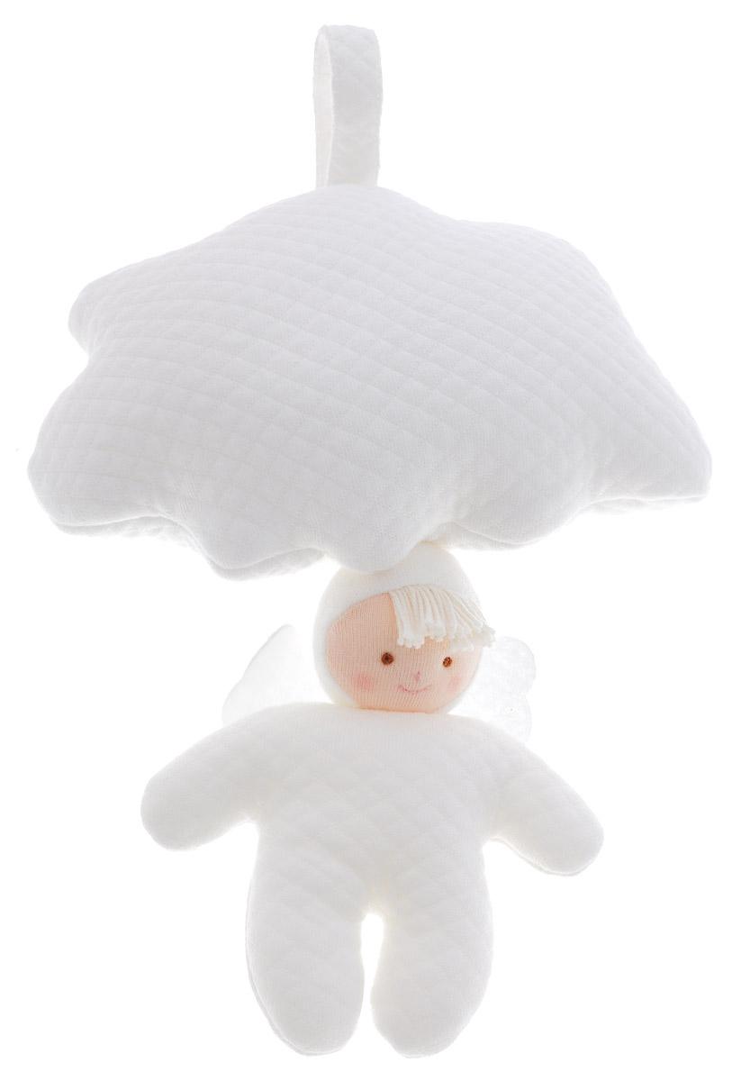 Trousselier Мягкая музыкальная игрушка Облачко и Ангел 13 смVM1024Мягкая музыкальная игрушка Облачко и Ангел, непременно, привлечет внимание вашего малыша. Игрушка выполнена в виде мягкого белого облачка и ангела на шнурочке. Стоит только потянуть ангела, и малыш услышит приятную мелодию, которая будет играть до тех пор, пока шнурок не вернется в исходное положение. Мелодия успокоит ребенка и поможет ему уснуть. А благодаря специальной петле с липучкой, игрушку можно прикрепить к кроватке или прогулочной коляске. Игрушка способствует развитию цветового и звукового восприятия и мелкой моторики рук. Порадуйте малыша таким замечательным подарком!
