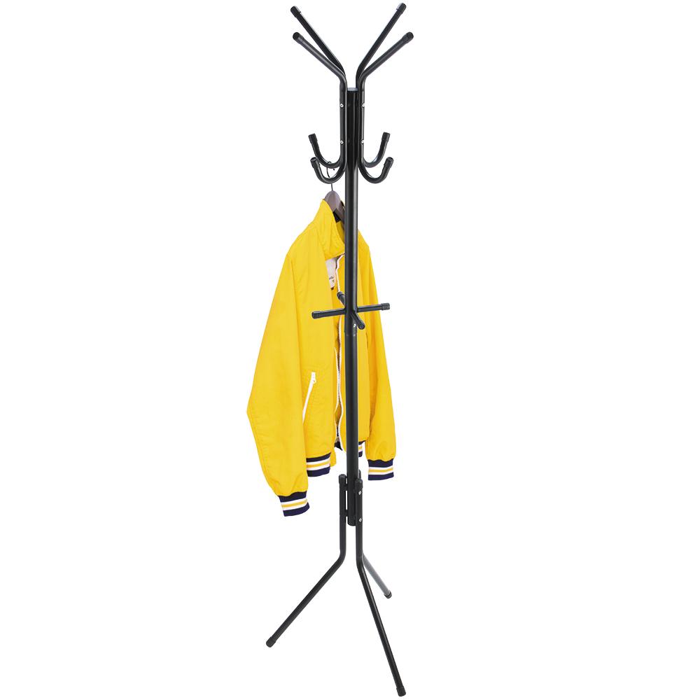 ArtMoon Root Напольная вешалка стальная 12 крючков699324Устойчивая напольная вешалка для одежды ArtMoon Root выполнена из стали с черным порошковым напылением и выдерживает вес до 10 кг. Особенности: Базовая долговечная модель для дома или офиса. 12 удобных крючков для верхней одежды, шляп, сумок и зонтов. Быстрая сборка, компактная упаковка, инструкция на упаковке. Толщина труб: 32\19 мм. Размеры: 44,5 х 38 х 175 см.