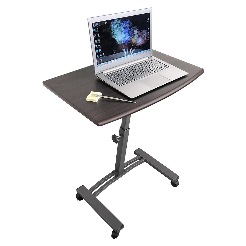 "Стол для ноутбука Tatkraft ""Salute"", на колесах, цвет: черный, 60 х 40 х 52-84 см"