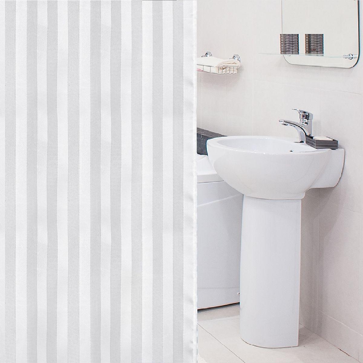 Штора для ванной комнаты Tatkraft Harmony, с кольцами, 180 х 180 см18792Штора для ванной комнаты Tatkraft Harmony выполнена из высококачественного полиэстера с водоотталкивающим и антигрибковым покрытием. Изделие приятно на ощупь, быстро высыхает. В комплекте прилагаются овальные пластиковые кольца. Такая штора прекрасно впишется в любой интерьер ванной комнаты и идеально защитит от брызг. Можно стирать в стиральной машине при температуре 40°С. Количество колец: 12 шт.