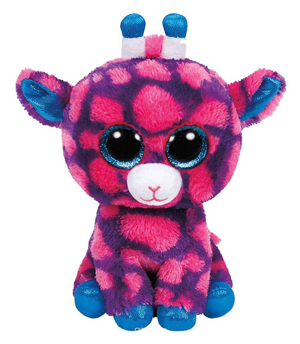 TY Мягкая игрушка Жираф Sky High 15 см36178Мягкая игрушка Жираф Sky High обязательно вызовет приятные эмоции и улыбку у каждого. Игрушка изготовлена из безопасных, приятных на ощупь материалов в виде мягкого розового жирафа. У игрушки огромные пластиковые глазки, блестящие голубые копытца и рожки. Пластиковые гранулы, используемые при набивке игрушки, способствуют развитию мелкой моторики рук ребенка. Симпатичная игрушка будет радовать вашего ребенка, способствовать полноценному и гармоничному развитию его личности. Великолепное качество исполнения делают эту игрушку чудесным подарком к любому празднику, как для ребенка, так и взрослого человека!