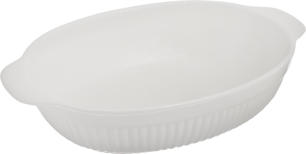 Блюдо для выпечки BergHOFF Bianco, овальное, 29 х 22 см1691046Овальное блюдо для выпечки BergHOFF Bianco изготовлено из высококачественной керамики. Материал мягко проводит тепло для равномерного запекания и зажаривания. Широкие ручки обеспечивают удобный захват при извлечении формы из духовки и подаче на стол в надетых рукавицах. Подходит для запекания различных блюд. Может быть использовано для подачи запеченных и охлажденных блюд на стол. Благодаря прочной глазурованной поверхности посуда легко чистится и устойчива к царапинам и пятнам. Блюдо станет отличным дополнением к вашему кухонному инвентарю, а также украсит сервировку стола и подчеркнет ваш прекрасный вкус. Можно использовать в микроволновой печи и духовке, а также мыть в посудомоечной машине. Внутренний размер блюда: 29 х 22 см. Ширина блюда (с учетом ручек): 35 см. Высота блюда: 8 см.