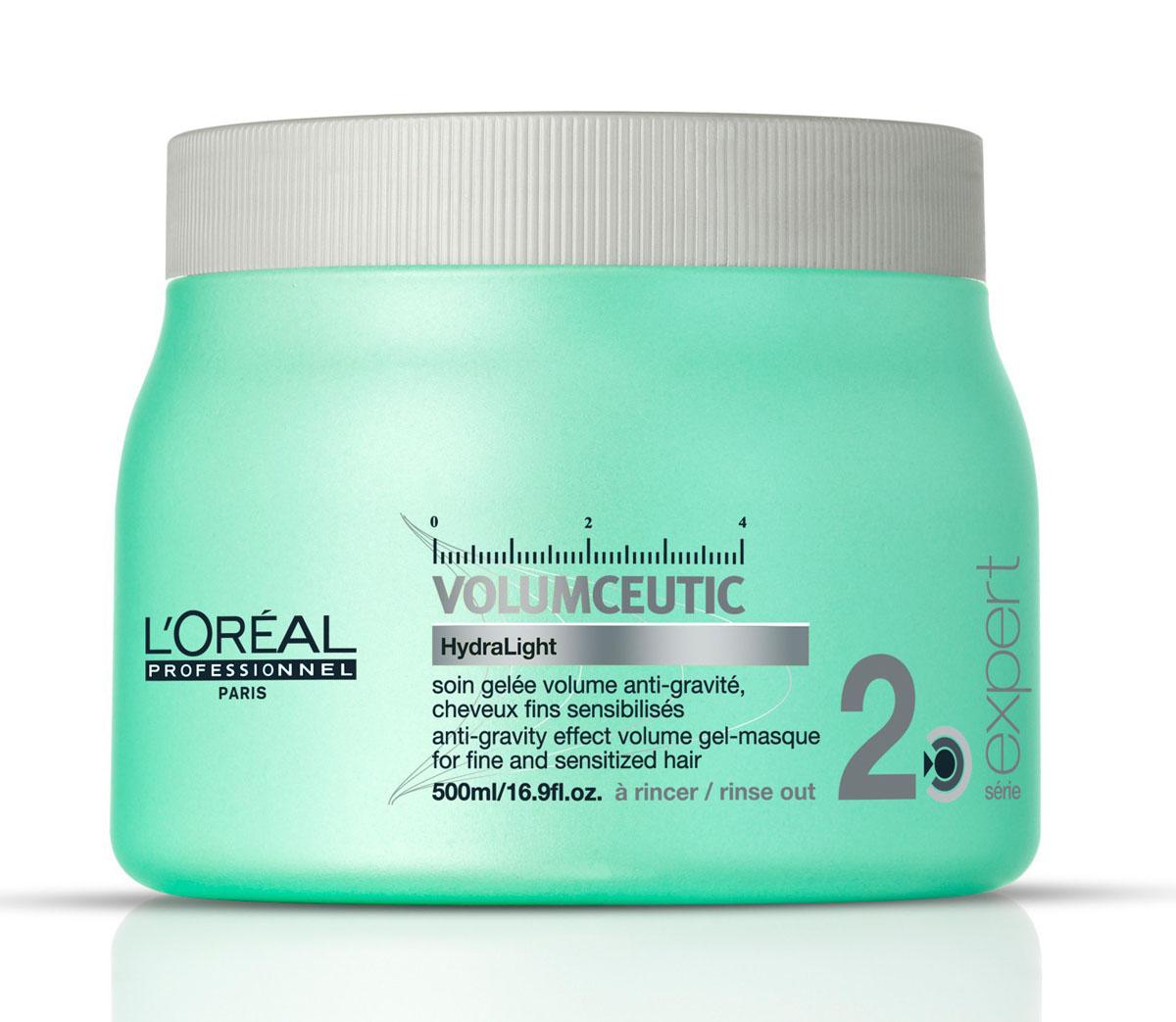 LOreal Professionnel Expert Volumceutic - Гель-маска для придания объема 500 млE0527829Гель-маска не только придаст объем вашим волосам, но и напитает их витаминами, подарив блеск и гладкость. Входящие в состав маски компоненты снимают статическое электричество, придавая волосам жизненную силу и легкость. Волосы легко укладываются в прическу