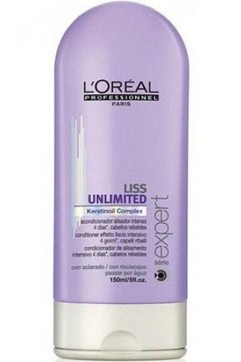 LOreal Professionnel Liss Unlimited – Смываемый уход для непослушных волос 150 млE0535398LOreal Professionnel Liss Unlimited Conditioner Смываемыйуходдлянепослушныхволос специальное разработанное средство для ухода за капризными» волосами. Использование кондиционера делает непослушные, завивающиеся при влажной погоде, волосы гладкими, эластичными и упругими, придает им красивый естественный блеск и роскошный ухоженный вид. Сбалансированный состав кондиционера, обогащенный комплексом питательный веществ и минералов, обеспечивает необходимое питание волос и их защиту от негативного воздействия внешней среды. Регулярное использование LOreal Professionnel Liss Unlimited Conditioner это легкое расчесывание волос и идеальная прическа каждый день. Применение кондиционера обеспечивает безупречную гладкость и послушность волос в течение 3-4-х дней, не позволяя им завиваться и пушиться даже во влажную погоду. Кондиционер позволяет без особых усилий поддерживать прическу в идеальном состоянии, не прибегая для этого к дополнительным ухаживающим средствам. LOreal...