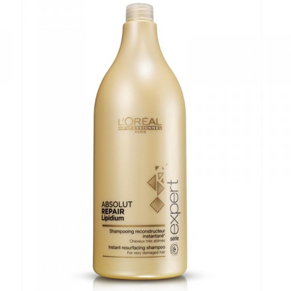 LOreal Professionnel Шампунь, восстанавливающий структуру волос на клеточном уровне Expert Absolut Repair Lipidium - 1500 млE0640665Благодаря системе Neofibrine (комбинации керамида Bio-Mimetic, укрепляющего волосы, УФ-фильтра и усиливающего блеск волос компонента) шампунь Абсолют Репэр Липидиум восстанавливает поврежденные волосы на клеточном уровне, возвращая им силу и прочность. Волосы становятся крепкими, защищенными, они наполняются жизненной силой и сиянием.