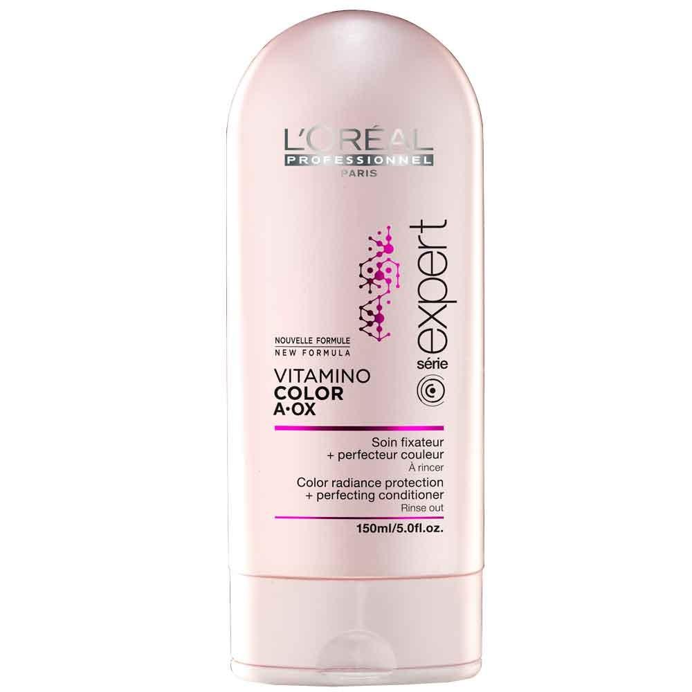 LOreal Professionnel Expert Vitamino Смываемый уход-фиксатор цвета Color AOX 150 млE0714687Уход-фиксатор Vitamino Color закрепляет цвет изнутри волос, интенсивно питает их. Средство обогащено керамидами, витаминами и микроэлементами. Фиксатор цвета не только сохраняет цвет ваших волос, но и обеспечивает волосам ухоженный вид, придаёт блеск, делает их мягкими и эластичными, облегчает расчёсывание. Система Hydro-resist, лежащая в основе средства, препятствует вымыванию цвета водой, в то время как молекула Incell делает волосы сильными, густыми за счёт того, что укрепляет клеточную структуру волос. Результат – сильные, красивые и здоровые волосы, сохраняющие насыщенный и яркий цвет в течение долгого времени.
