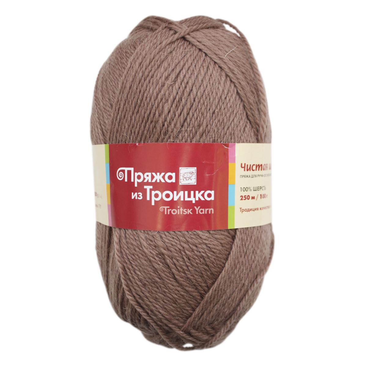 Пряжа для вязания Чистошерстяная, 100 г, 250 м, цвет: 0201 бежевый, 10 шт366003_0201