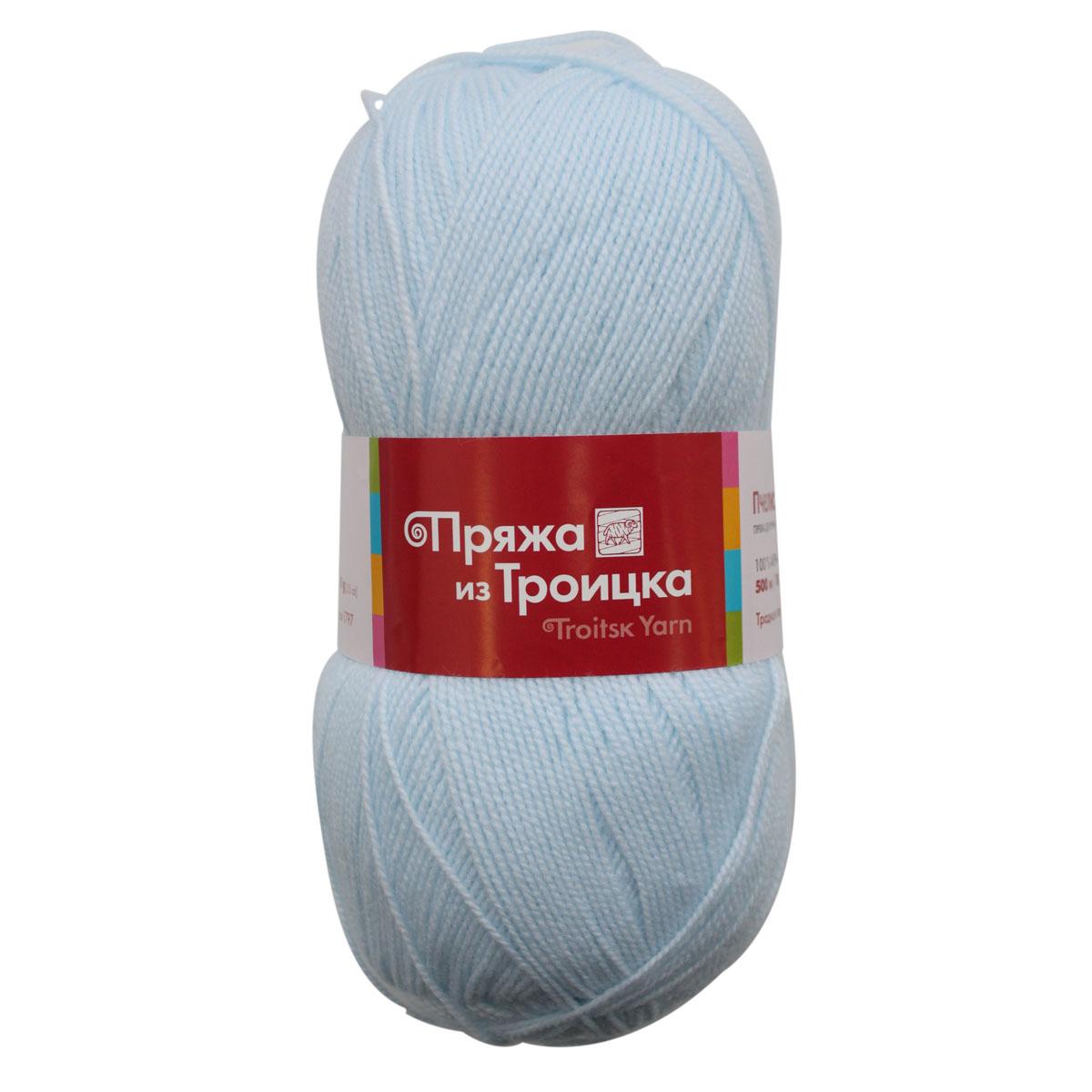 Пряжа для вязания Пчелка, 100 г, 500 м, цвет: 0278 бледно-голубой, 10 шт366098_0278
