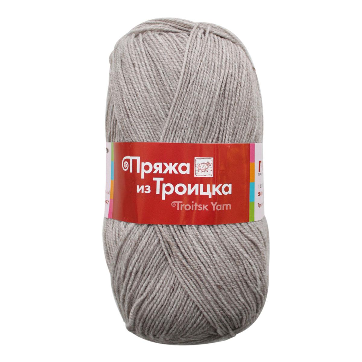 Пряжа для вязания Пчелка, 100 г, 500 м, цвет: 1273 серо-бежевый, 10 шт366098_1273
