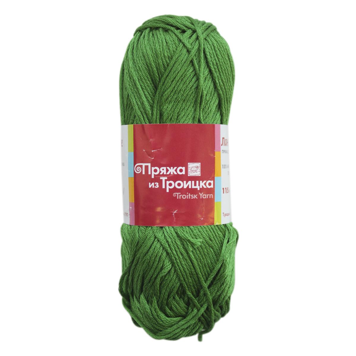 Пряжа для вязания Ландыш, 50 г, 115 м, цвет: 0726 яркая зелень, 10 шт366131_0726