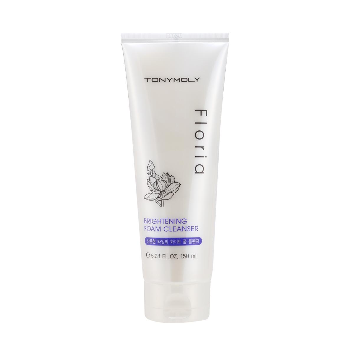TonyMoly Пенка для лица Floria Brightening Foam Cleanser, 150 млSS02011500Очищающая пенка для умывания с видимым отбеливающим эффектом. Мягко удаляет остатки макияжа, освежает и тонизирует кожу. Поддерживает оптимальный водный баланс кожи, удаляет излишки кожного сала. Подходит для любого типа кожи, в том числе для сухой и чувствительной. Обладает мягкой текстурой, бережно очищает кожу, не стягивая и не оставляя ощущения липкости. Содержит экстракт жемчуга, придающий деликатное сияние Вашей коже. Экстракты лотоса и сливы бережно заботятся о Вашей коже, восстанавливая ее и усиливая защитные функции. Средство не содержит парабенов, бензофенона, искусственных красителей и отдушек. Объем: 150 мл.