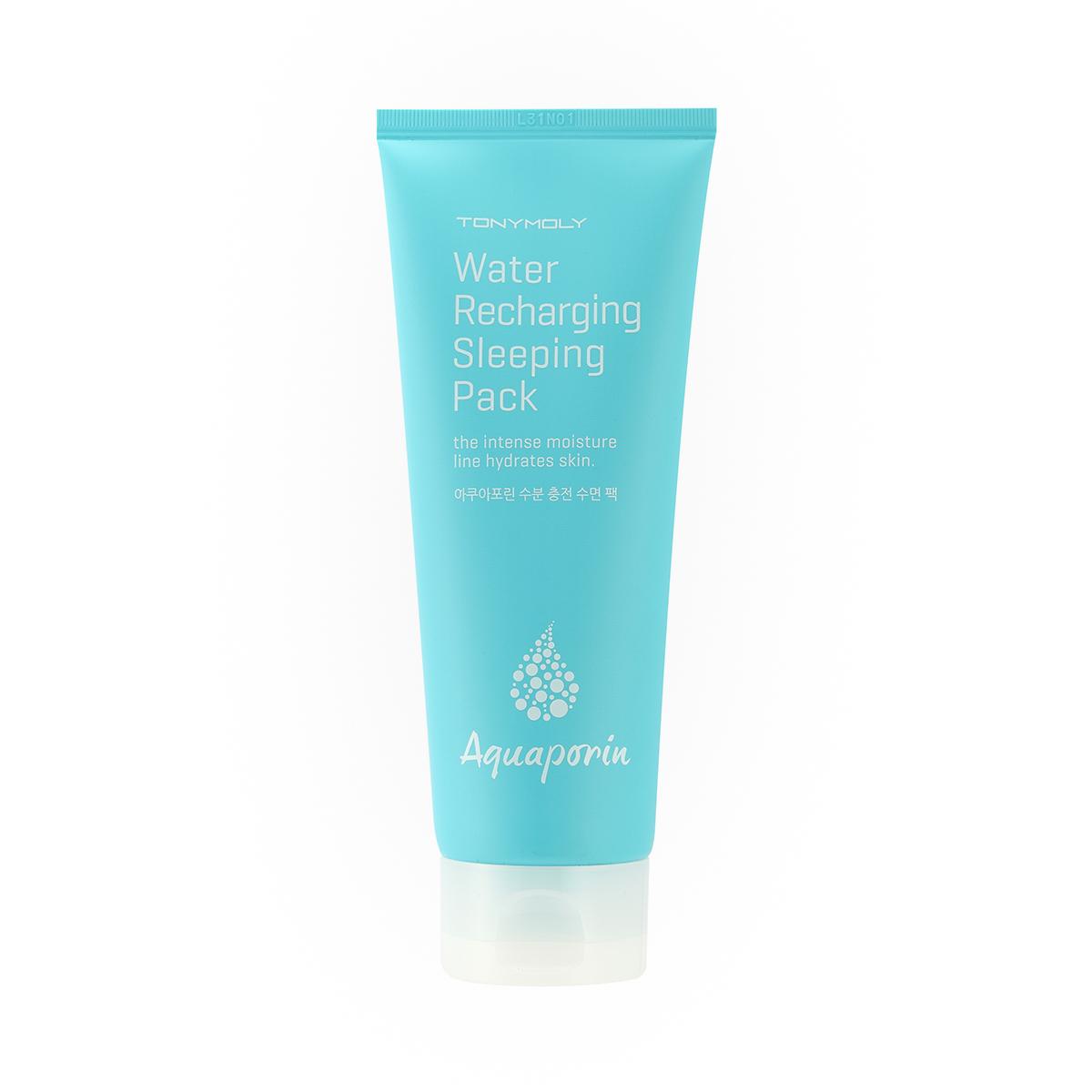 TonyMoly Ночная маска для лица Aquaporin Water Recharging Sleeping Pack, 120 млSS04019000Высокоэффективная ночная маска для лица с интенсивным успокаивающим и увлажняющим воздействием. Маска способствует восстановлению и питанию кожи, позволяет ей выглядеть свежей, отдохнувшей и сияющей. Маска идеально подходит для сухой, потерявшей упругость и эластичность кожи, нуждающейся в интенсивном увлажнении и усилении регенерационных способностей. Маска содержит запатентованный комплекс Аквапорин, разработанный специально для глубокого увлажнения кожи, продления ее молодости и препятствующий появлению шелушений и раздражения кожи. Морские водоросли и гиалуроновая кислота восстанавливают кожу, усиливая синтез коллагена. Объем: 120 мл