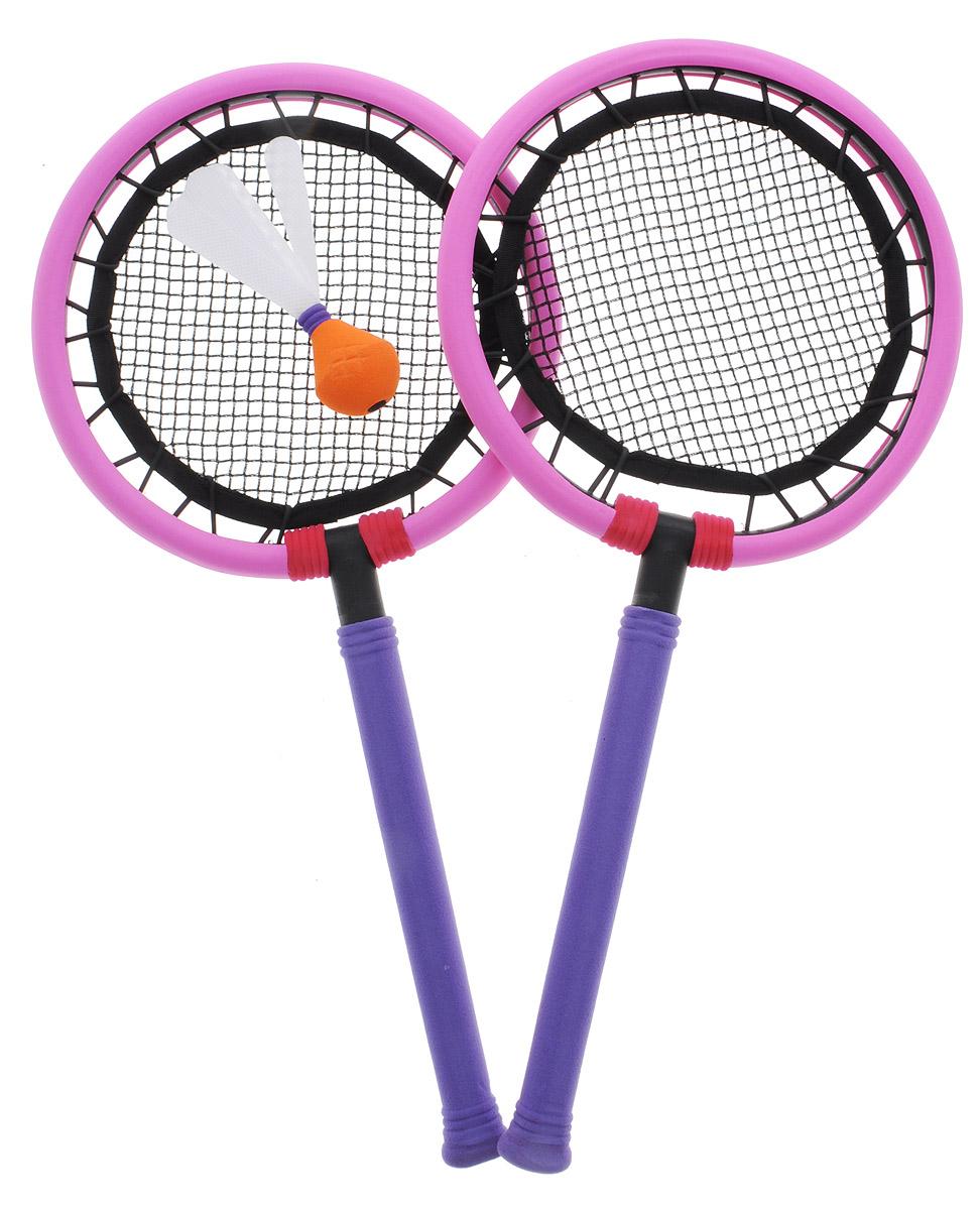 Safsof Набор для игры в бадминтон цвет фиолетовый розовый ( BSK-03(B)_фиолетовый,розовый )