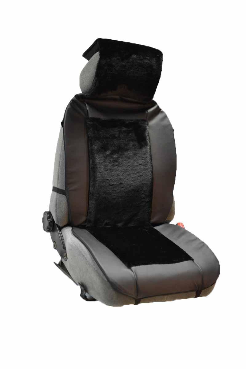 Накидка Auto premium на полное сидение, цвет: черный. 4711147111Комбинированная накидка из экокожи и искуственного меха. Стильное и практичное решение для салона автомобиля. Экокожа обеспечит долговечность использования накидки, а искуственный мех сделает сиденье автомобиля еще более комфортным. Долговечная и в то же время теплая накидка в Ваш автомобиль.