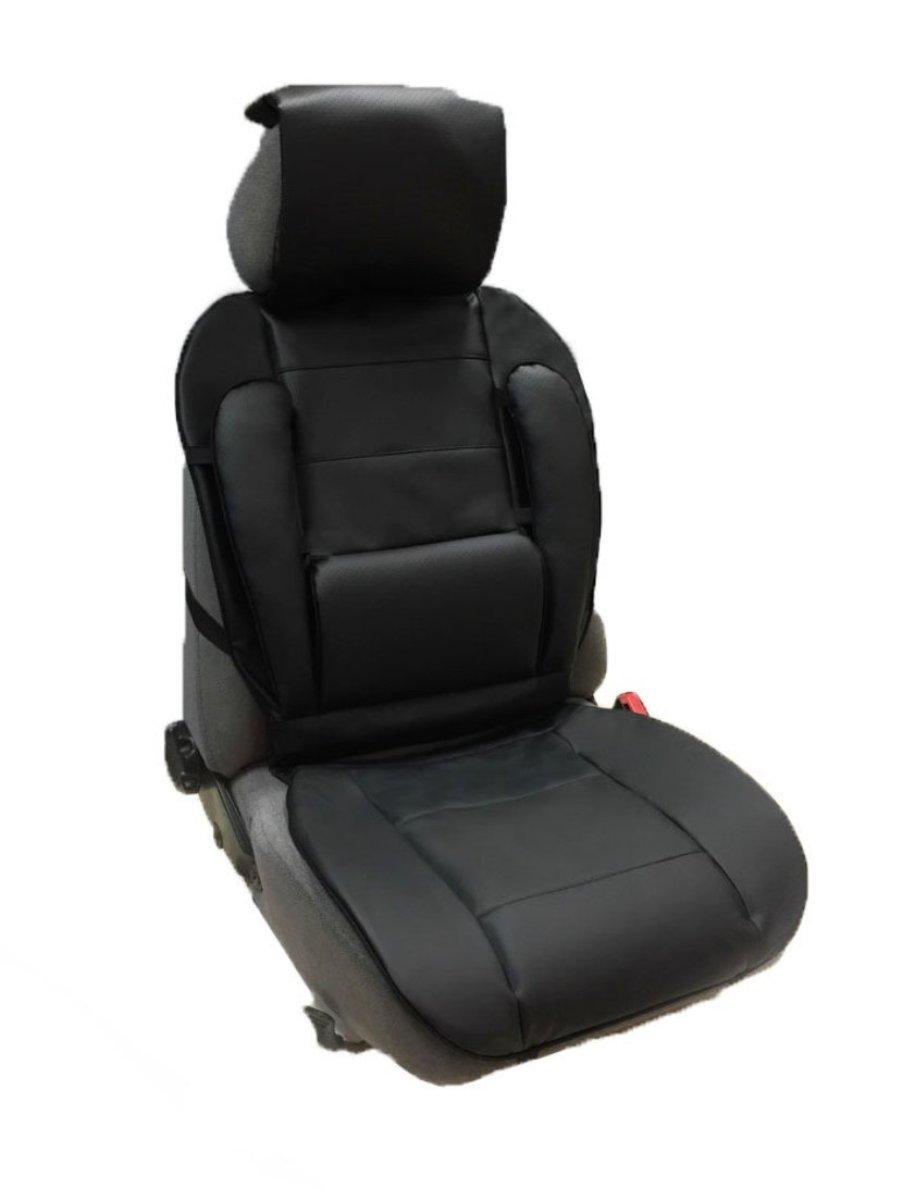 Накидка Auto premium на полное сидение, валики спина, цвет: черный. 4730447304Накидка из экокожи с анатомической поддержкой для спины.