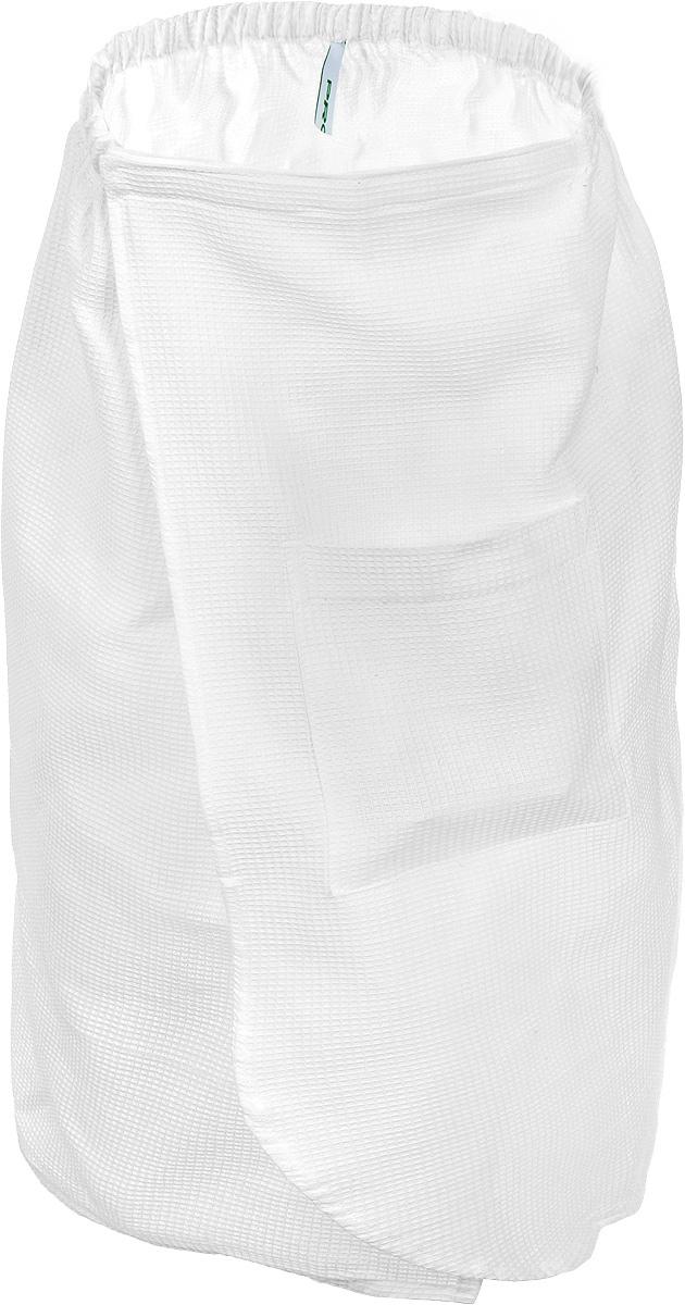 Килт для бани и сауны Proffi Sauna, цвет: белыйPH2030Вафельный килт для бани и сауны Proffi Sauna, выполненный из натурального хлопка, привлечет внимание любителей модных тенденций в банной одежде. Килт - это многофункциональное полотенце специального покроя с резинкой и на липучке. На лицевой стороне имеется кармашек. В парилке можно лежать на нем, после душа вытираться, а во время отдыха использовать как удобную накидку. Длина килта: 73 см. Ширина килта: 140 см. Размер: М.