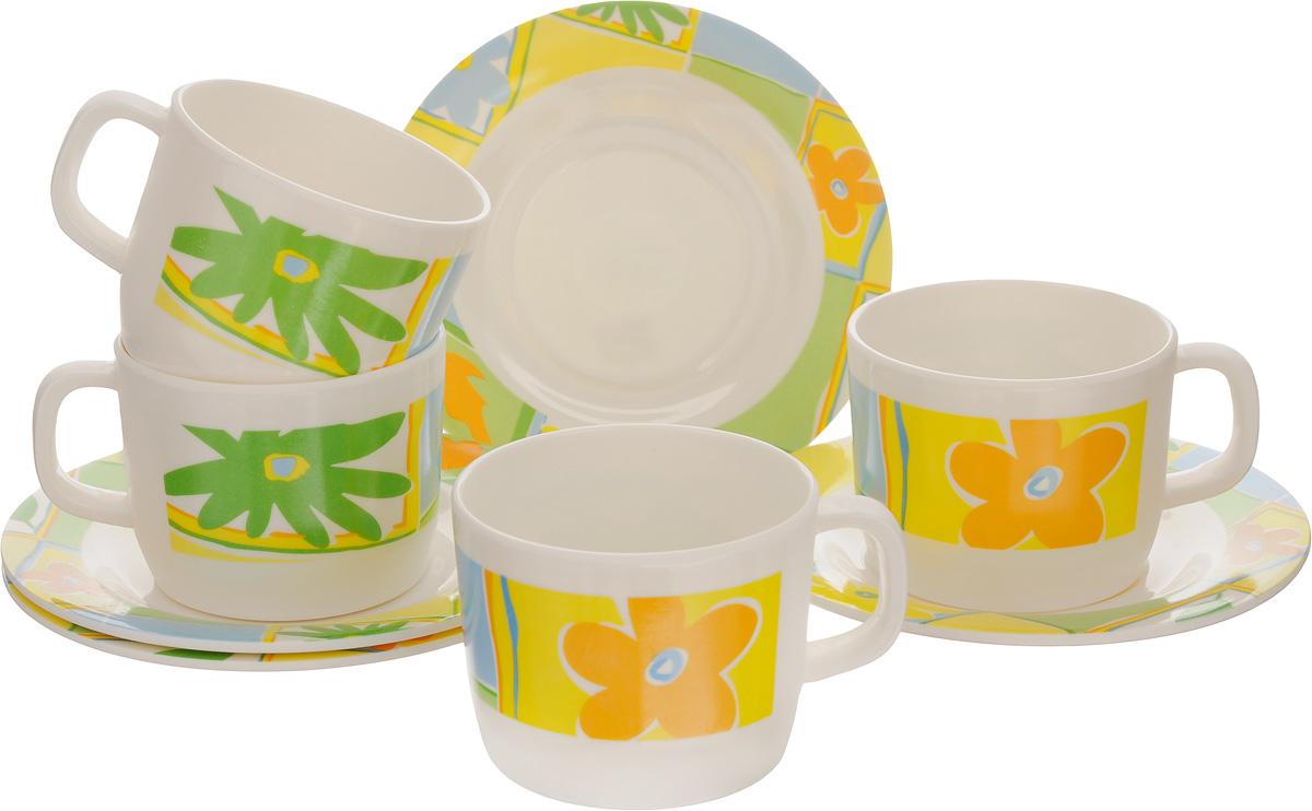 Набор чайный Calve, 8 предметовCL-2508Чайный набор Calve состоит из 4 чашек и 4 блюдец, выполненных из высококачественного пластика. Изделия оформлены цветочным рисунком. Изящный набор эффектно украсит стол к чаепитию и порадует вас функциональностью и ярким дизайном. Можно мыть в посудомоечной машине. Диаметр блюдца: 14,5 см. Объем чашки: 240 мл. Диаметр чашки (по верхнему краю): 8 см. Высота чашки: 6,4 см.