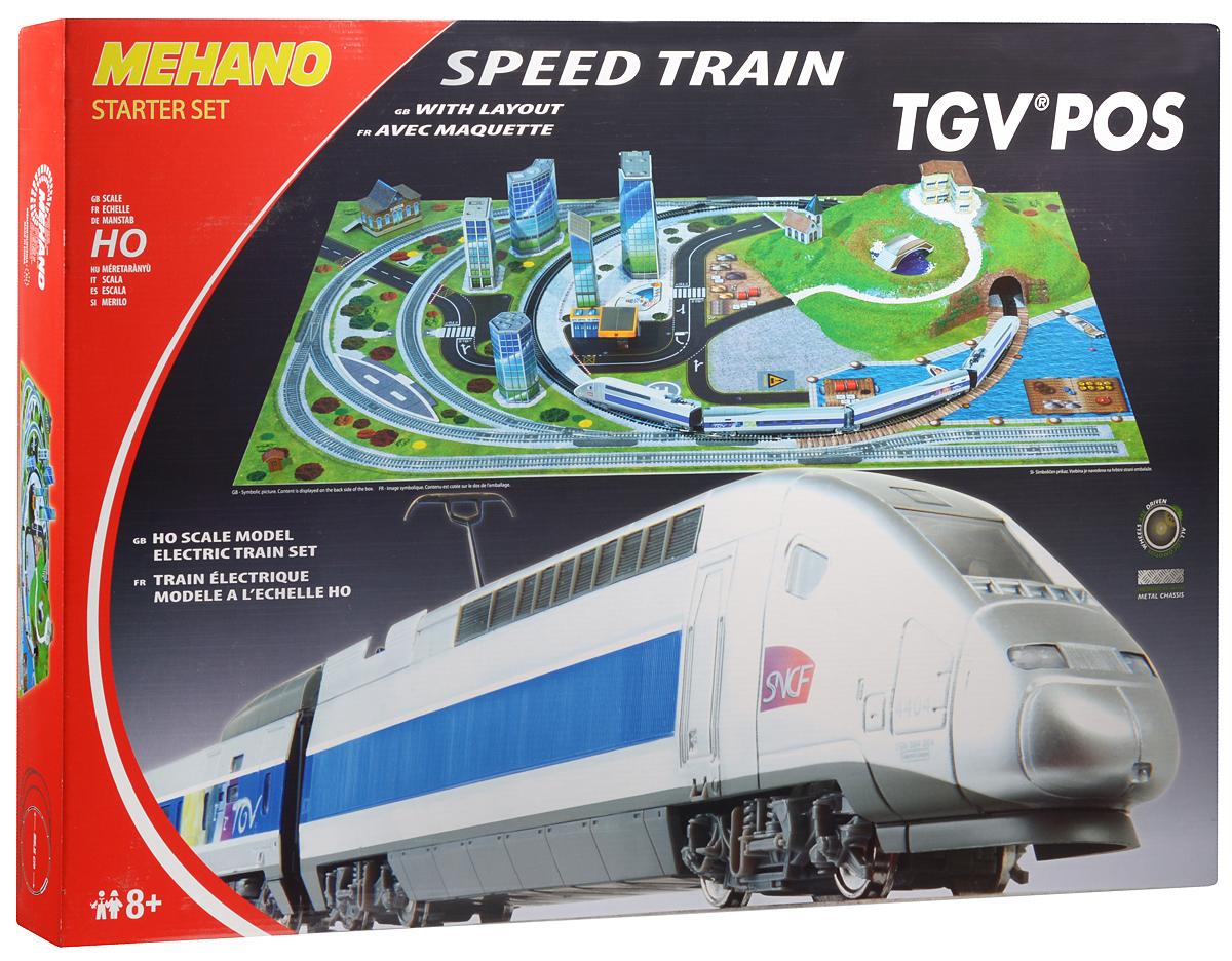 Mehano Железная дорога TGV POS с ландшафтомT111Железная дорога Mehano TGV POS окружена интересным и разнообразным ландшафтом. Фрагменты ландшафта, построек, железнодорожного полотна, вагонов и локомотива имеют крайне высокую степень детализации, что делает игру еще более увлекательной. На пути скоростного поезда встречаются низенькие загородные домики и взмывающие в небо бизнес-центры, живописные озера и пригорки, автодороги и зеленые лужайки, капитальные тоннели, проложенные сквозь горы и возвышенности. Все эти объекты придают игре неповторимое ощущение реальности. Рельсы металлические, колеса паровозов из металла. Все элементы комплекта совместимы с другими сборными моделями железной дороги Mehano, так что юный машинист сможет прокладывать различные маршруты, строить новые станции и придумывать неповторимый, свой собственный уникальный ландшафт. В комплект входит: 1 ведущий и 1 ведомый локомотив, 1 вагон первого и 1 второго класса, 2,25 метров железнодорожного полотна (12 радиальных рельс), современный...