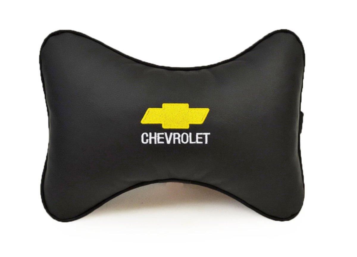"""Подушка на подголовник Auto premium """"CHEVROLET"""", цвет: черный. 37007"""