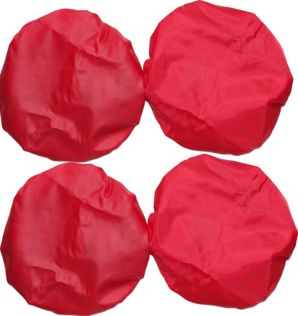 Чудо-Чадо Чехлы на колеса для коляски диаметр 18-28 см цвет красный 4 шт