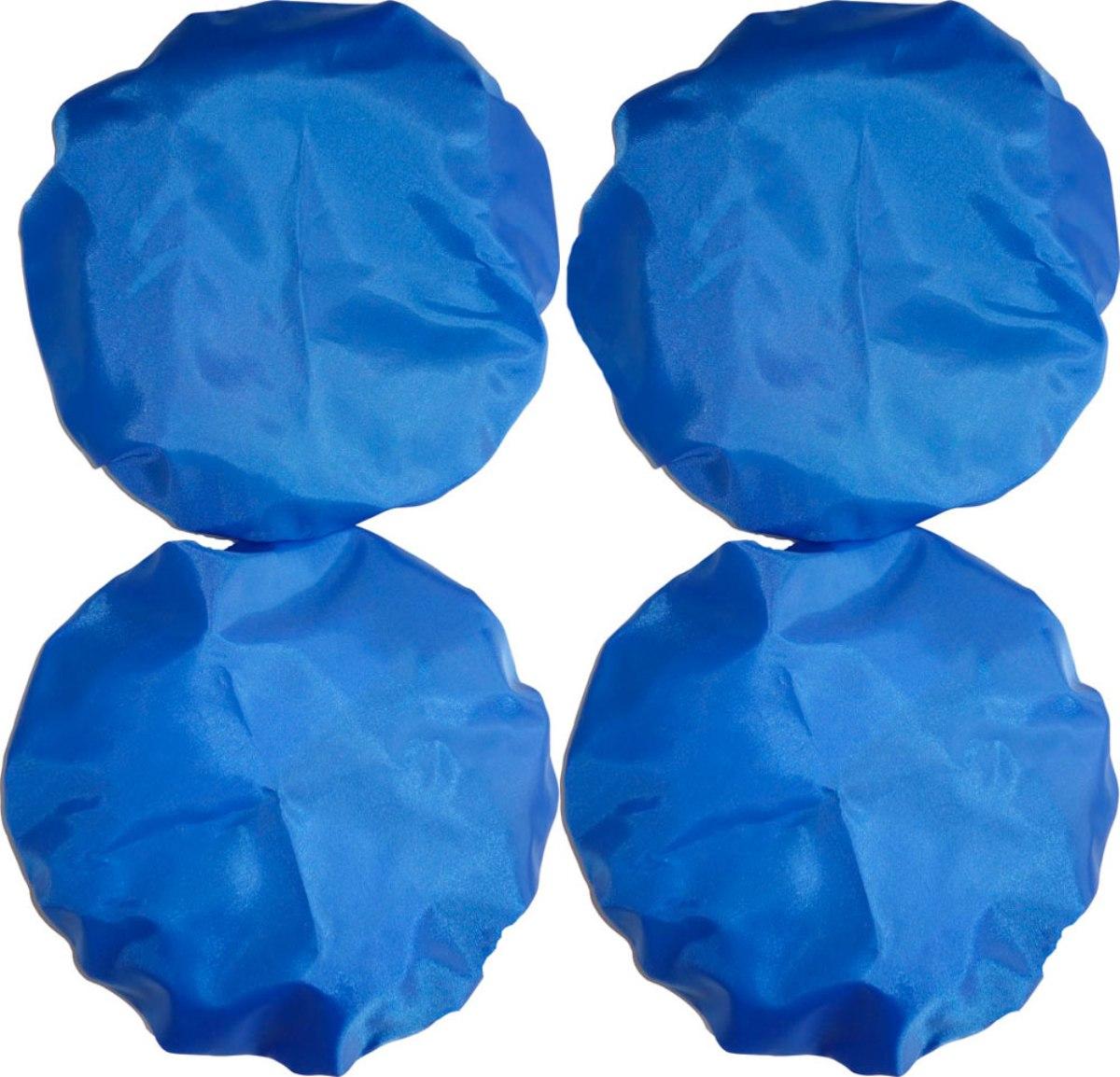 Чудо-Чадо Чехлы на колеса для коляски диаметр 18-28 см цвет синий 4 шт
