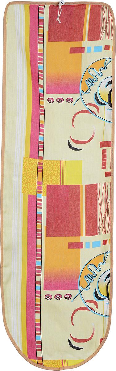 Чехол для гладильной доски Eva Detalle, цвет: желтый, красный, 120 х 37 смЕ1302_желтый, красные квадратыЧехол для гладильной доски Eva Detalle, выполненный из хлопка с подкладкой из мягкого войлока, предназначен для защиты или замены изношенного покрытия гладильной доски. Из войлочного полотна вы можете вырезать подкладку любого размера, подходящую именно для вашей доски. Чехол препятствует образованию блеска и отпечатков металлической сетки гладильной доски на одежде. Этот качественный чехол обеспечит вам легкое глажение. Размер чехла: 120 см x 37 см. Размер войлочного полотна: 130 см х 52 см. Размер доски, для которой предназначен чехол: 115 см x 32 см.
