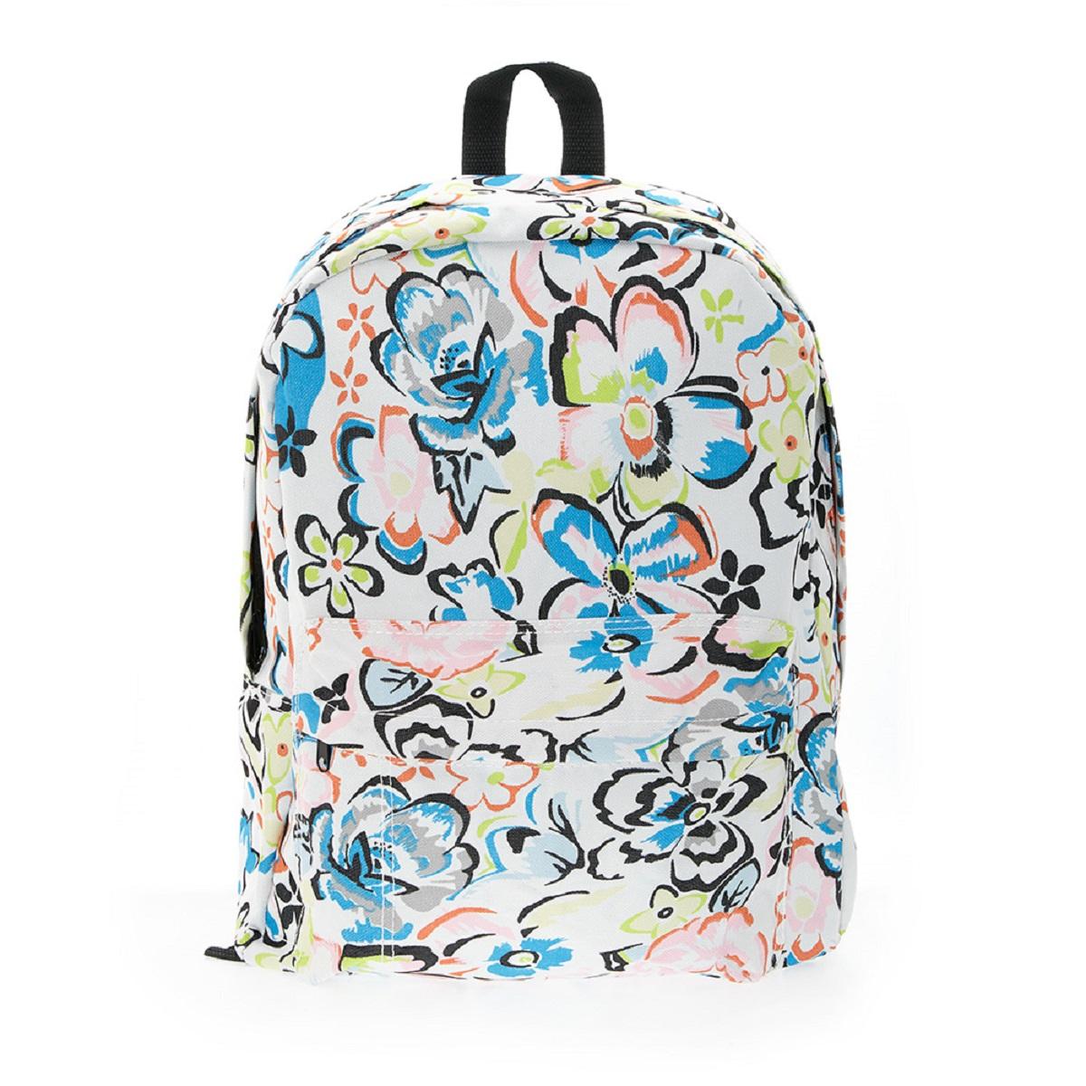 Рюкзак городской 3D Bags Цветы, 16 л3DBC409Стильный, вместительный и практичный, рюкзак понравится и школьникам, и студентам. Просторный внутренний отсек, наружний карман на молнии будут очень удобны в использовании.