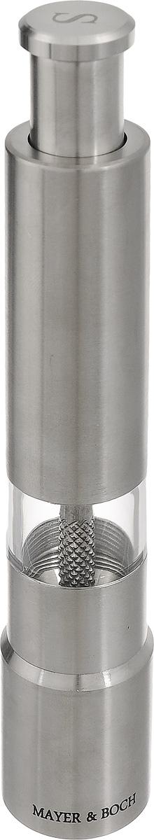 Мельница для соли Mayer & Boch, высота 16 см24168_SМельница Mayer & Boch предназначена для помола соли и других специй. Изделие, выполненное из нержавеющей стали и акрила, идеально подходит для сервировки стола. Мельница добавит вашим блюдам яркие вкусовые краски. Выполненная из высококачественных материалов и имеющая запатентованный и оригинальный механизм, мельница станет незаменимым атрибутом на вашем столе. Она удобна в использовании и имеет оригинальный современный дизайн, который станет ярким акцентом в интерьере вашей кухни. Диаметр основания: 2,5 см. Высота: 16 см.