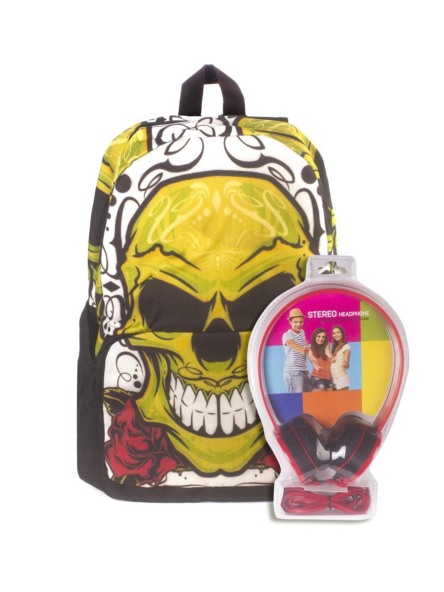 Рюкзак молодежный 3D Bags Роджер-Роза, цвет: черный, желтый, 27 л + ПОДАРОК: НаушникиWA-1505021Новая колекция для любителей Веселого Роджера. С этими рюкзаки вы всегда будете на пике популярности, а наушники, входящие в комлект, позволят вам не расставаться с любимой музыкой, фильмами и играми. Технические характеристики: длина шнура 1800 мм (+-50 мм), частота 20-20 КГц, импеданс 32 Ом (+-10%), чувствительность 105 дБ/В (+-3 дБ на 1 КГц), разъем mini-jack 3,5 мм. Наушники поставляются в цветовом ассортименте. Поставка осуществляется в зависимости от наличия на складе.