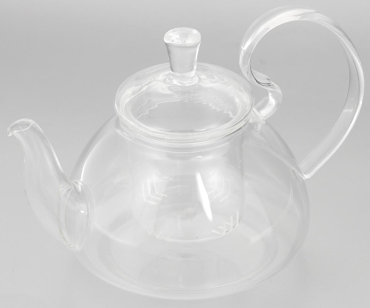 Чайник заварочный Mayer & Boch, с фильтром, 600 мл. 2493624936Заварочный чайник Mayer & Boch, выполненный из жаропрочного стекла, практичный и простой в использовании. Он займет достойное место на вашей кухне и позволит вам заварить свежий, ароматный чай. Чайник оснащен сетчатым фильтром, который задерживает чаинки и предотвращает их попадание в чашку, а прозрачные стенки позволяют наблюдать за насыщением напитка. Заварочный чайник Mayer & Boch послужит хорошим подарком для друзей и близких. Диаметр чайника (по верхнему краю): 6,5 см. Высота чайника (без учета крышки): 9,5 см. Высота фильтра: 6,5 см. Объем: 600 мл.