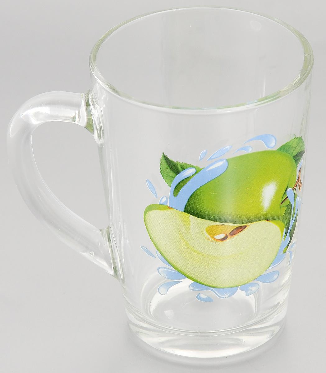 Кружка OSZ Капучино. Зеленое яблоко, 300 мл07с1334 ДЗ ЯЗКружка OSZ Капучино. Зеленое яблоко изготовлена из стекла и украшена ярким рисунком. Изделие оснащено удобной ручкой и сочетает в себе лаконичный дизайн и функциональность. Кружка OSZ Капучино. Зеленое яблоко не только украсит ваш кухонный стол, но и подчеркнет прекрасный вкус хозяйки. Диаметр кружки (по верхнему краю): 7,8 см.