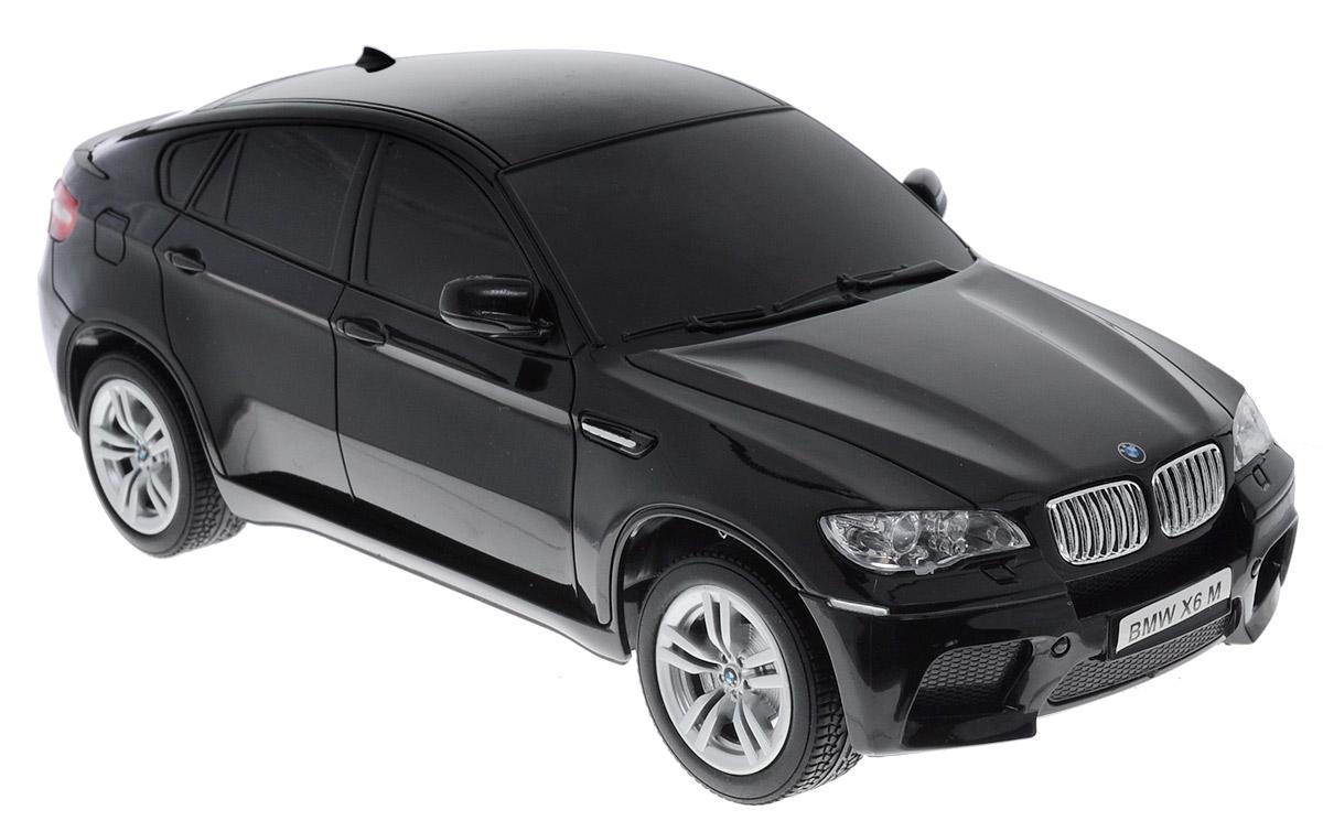 TopGear Радиоуправляемая модель BMW X6 цвет черный масштаб 1:24Т56674_черныйВсе мальчишки любят мощные крутые тачки! Особенно если это дорогие машины известной марки, которые, проезжая по улице, обращают на себя восторженные взгляды пешеходов. Радиоуправляемая модель TopGear BMW X6 - это детальная копия существующего автомобиля в масштабе 1:24. Машинка изготовлена из прочного легкого пластика, колеса прорезинены. При движении фары машины светятся. При помощи пульта управления автомобиль может перемещаться вперед, дает задний ход, поворачивает влево и вправо, останавливается. Встроенные амортизаторы обеспечивают комфортное движение. В комплект входят машинка, пульт управления, зарядное устройство (время зарядки составляет 4-5 часов), аккумулятор. Автомобиль отличается потрясающей маневренностью и динамикой. Ваш ребенок часами будет играть с моделью, устраивая захватывающие гонки. Машина работает от аккумулятора (входит в комплект). Для работы пульта управления необходимы 2 батарейки типа АА (не входят в комплект).
