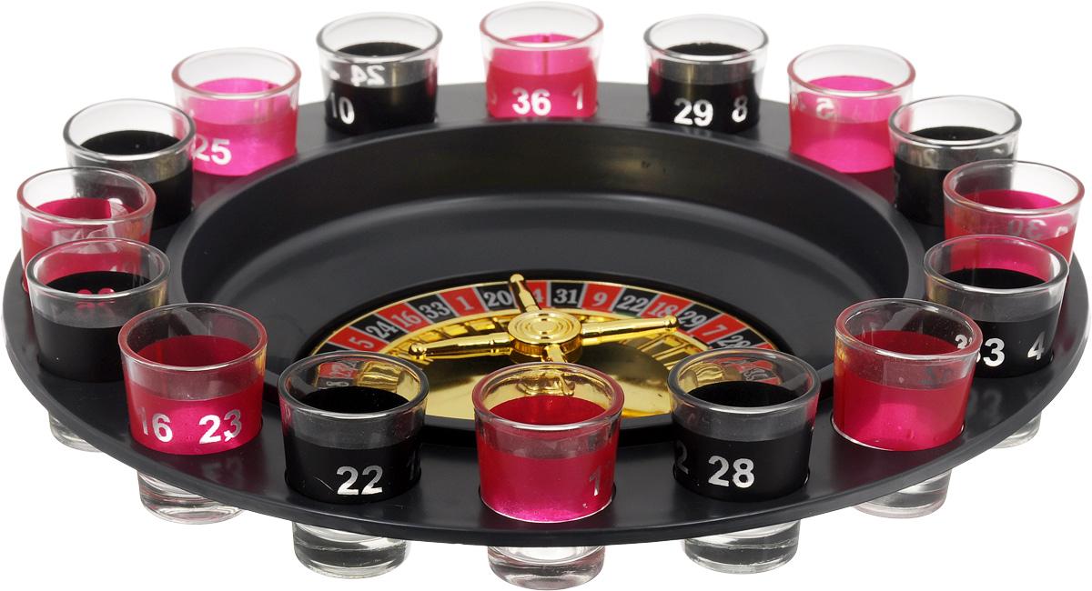 Игра настольная Феникс-Презент Пьяная рулетка35703Настольная игра Феникс-Презент Пьяная рулетка, выполненная из стали, акрила, полипропилена и стекла. Это оригинальная игра, которая сделает вашу вечеринку по-настоящему веселой. Она представляет собой рулетку, где есть 16 стопок, подставка, игровое поле, 2 стальных шарика, и инструкция. С такой рулеткой любое застолье превратится в настоящий праздник. Комплектация: 16 рюмок, 2 стальных шарика, игровое поле, подставка.
