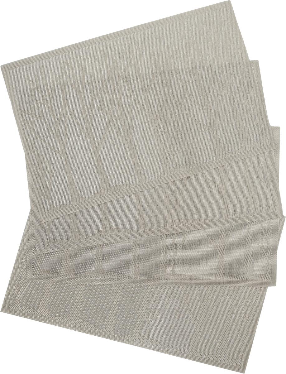 Набор салфеток под горячее Proffi Деревья, цвет: светло-серый, 45 х 30 см, 4 штPH3667Набор Proffi Деревья, состоящий из 4 салфеток под горячее, идеально впишется в интерьер современной кухни. Салфетки, выполненные из текстилена (70% ПВХ, 30% полиэстер), не впитывают влагу, легко моются, не деформируются при длительном использовании, пропускают воздух, выдерживают температуру до 100°С. Каждая хозяйка знает, что салфетка под горячее - это незаменимый и очень полезный аксессуар на каждой кухне. Ваш стол будет не только украшен оригинальной салфеткой, но и сбережен от воздействия высоких температур ваших кулинарных шедевров. Состав: текстилен (70% ПВХ, 30% полиэстер). Размер салфетки: 45 х 30 см.