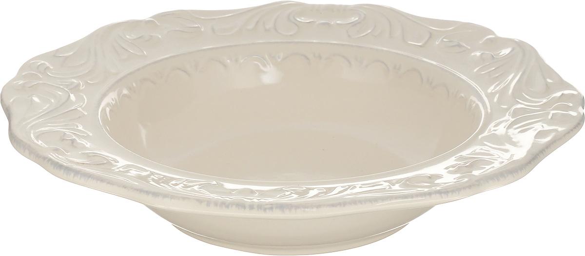 Тарелка суповая Certified International Флоренция, диаметр 25 см14903Суповая тарелка Certified International Флоренция выполнена из высококачественной керамики с рельефным рисунком. Изделие сочетает в себе изысканный дизайн с максимальной функциональностью. Тарелка прекрасно впишется в интерьер вашей кухни и станет достойным дополнением к кухонному инвентарю. Суповая тарелка Certified International Флоренция подчеркнет прекрасный вкус хозяйки и станет отличным подарком. Можно мыть в посудомоечной машине и использовать в микроволновой печи. Диаметр тарелки: 25 см.