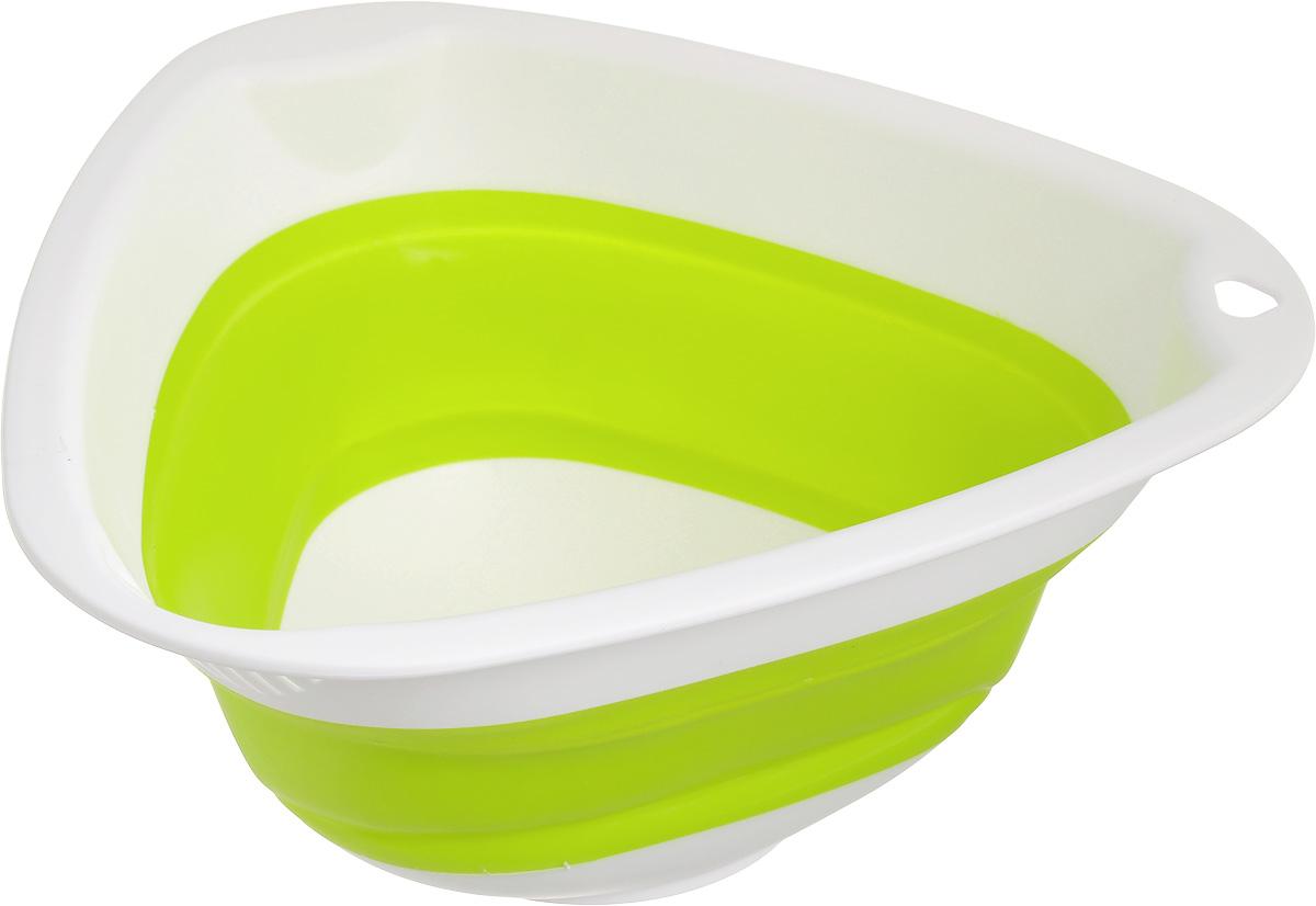 Миска складная Calve, цвет: салатовый, белый, 27 x 26 x 4,5 смCL-4593Складная миска Calve изготовлена из высококачественного пищевого силикона и пластика. Изделие можно использовать как для хранения продуктов, так и для сервировки стола. Благодаря тому, что она складывается, миску удобно хранить в шкафу, занимая очень мало места. Такая миска станет полезным приобретением для вашей кухни. Размер миски (в разложенном виде): 27 х 26 х 12 см. Размер миски (в сложенном виде): 27 х 26 х 4,5 см.