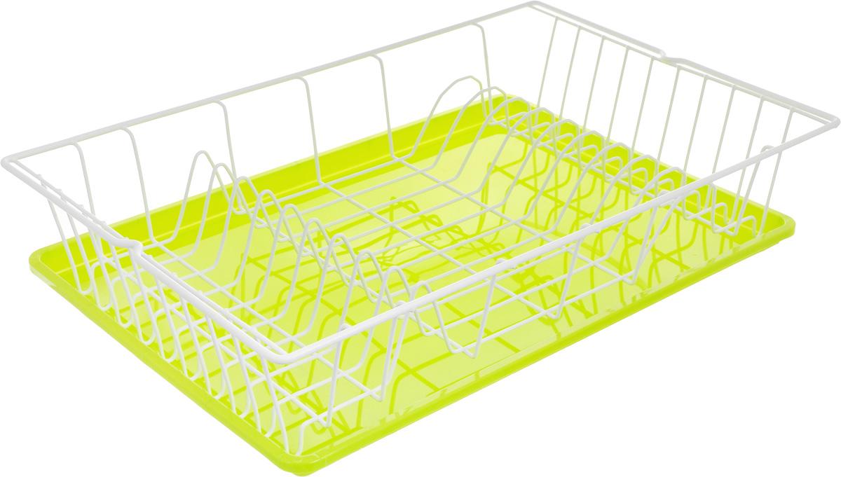 Сушилка для посуды Metaltex Germatex Plus, с поддоном, цвет: салатовый, белый, 48 х 30 х 9,5 см32.02.45-514_салатовый, белыйСушилка Metaltex Germatex Plus, изготовленная из стали, представляет собой решетку с ячейками для посуды. Изделие оснащено пластиковым поддоном для стекания воды. Сушилка Metaltex Germatex Plus не займет много места на вашей кухне. Вы сможете разместить на ней большое количество предметов. Компактные размеры и оригинальный дизайн выделяют эту сушилку из ряда подобных. Размер сушилки: 48 х 30 х 9,5 см. Размер поддона: 45 х 31 х 2 см.