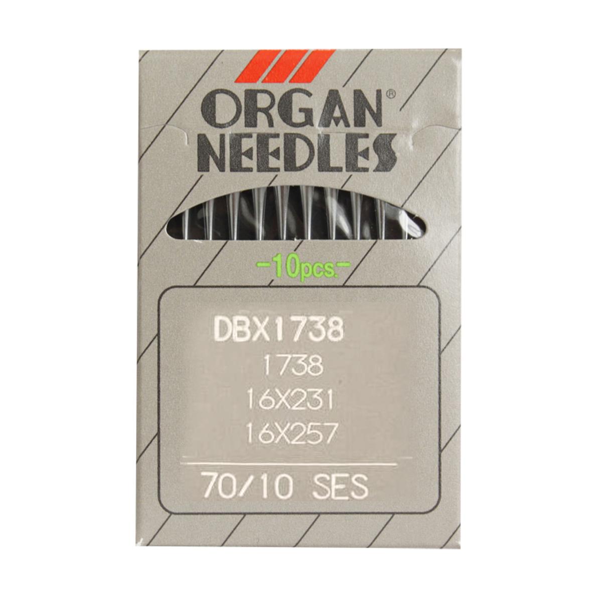 Иглы для промышленных машин Organ DB x 1/ 70 J (SES), 10 шт162275