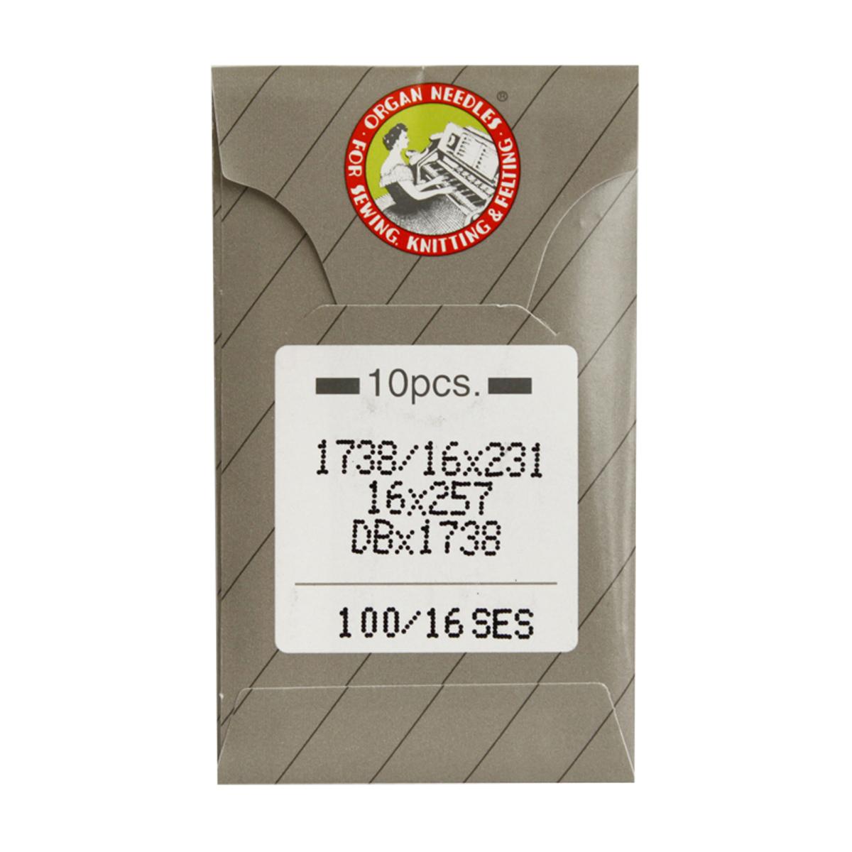 Иглы для промышленных машин Organ DB x 1/100, 10 шт162286