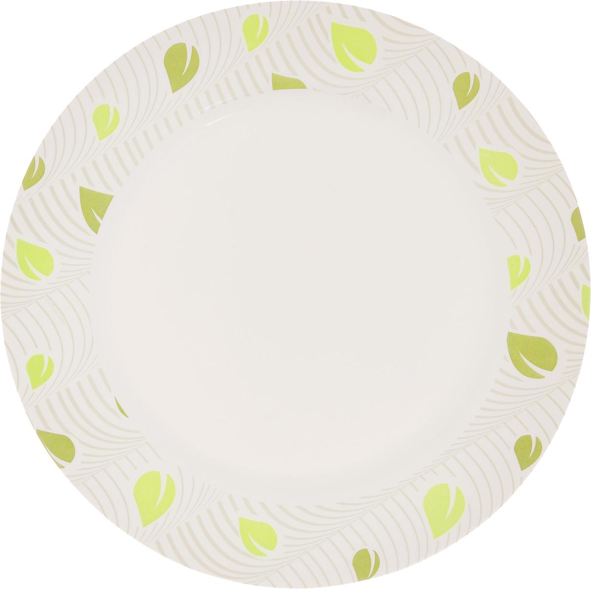 Тарелка Luminarc Amely, диаметр 26,5 смJ1779Элегантная тарелка Luminarc Amely, изготовленная из ударопрочного стекла, имеет изысканный внешний вид. Такая тарелка прекрасно подходит как для торжественных случаев, так и для повседневного использования. Она прекрасно оформит стол и станет отличным дополнением к вашей коллекции кухонной посуды. Диаметр тарелки (по верхнему краю): 26,5 см.