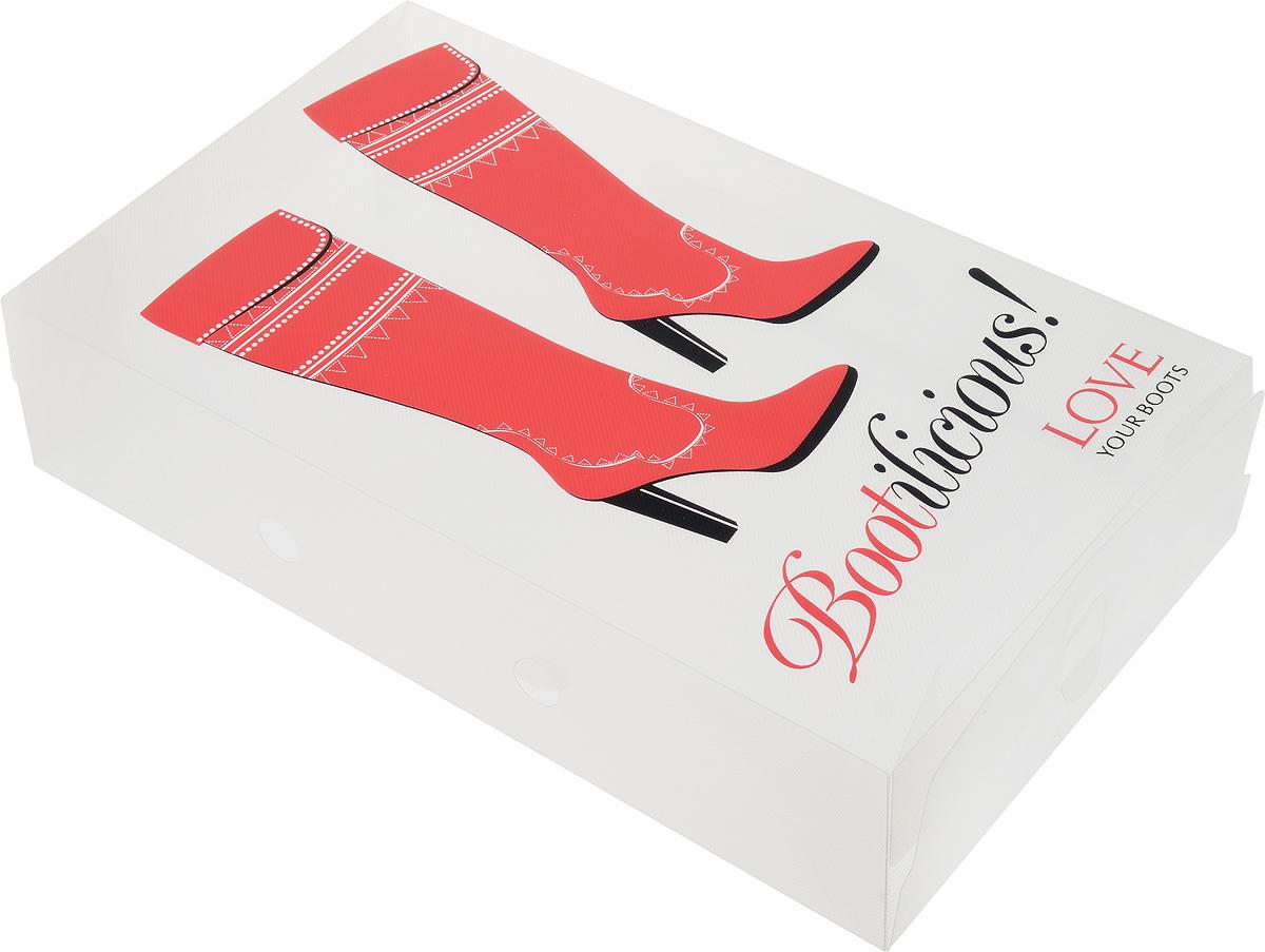 Коробка для хранения обуви Youll love, 52 х 30 х 11 см60328Коробка Youll love изготовлена из высококачественного прозрачного полипропилена и декорирована рисунком. Она специально предназначена для хранения обуви. Изделие легко собирается и не занимает много места. С помощью боковой крышки можно доставать обувь, не снимая коробку с полки. Коробка для хранения Youll love- идеальное решение для аккуратного хранения вашей обуви в межсезонье. Размер коробки (в собранном виде): 52 х 30 х 11 см.