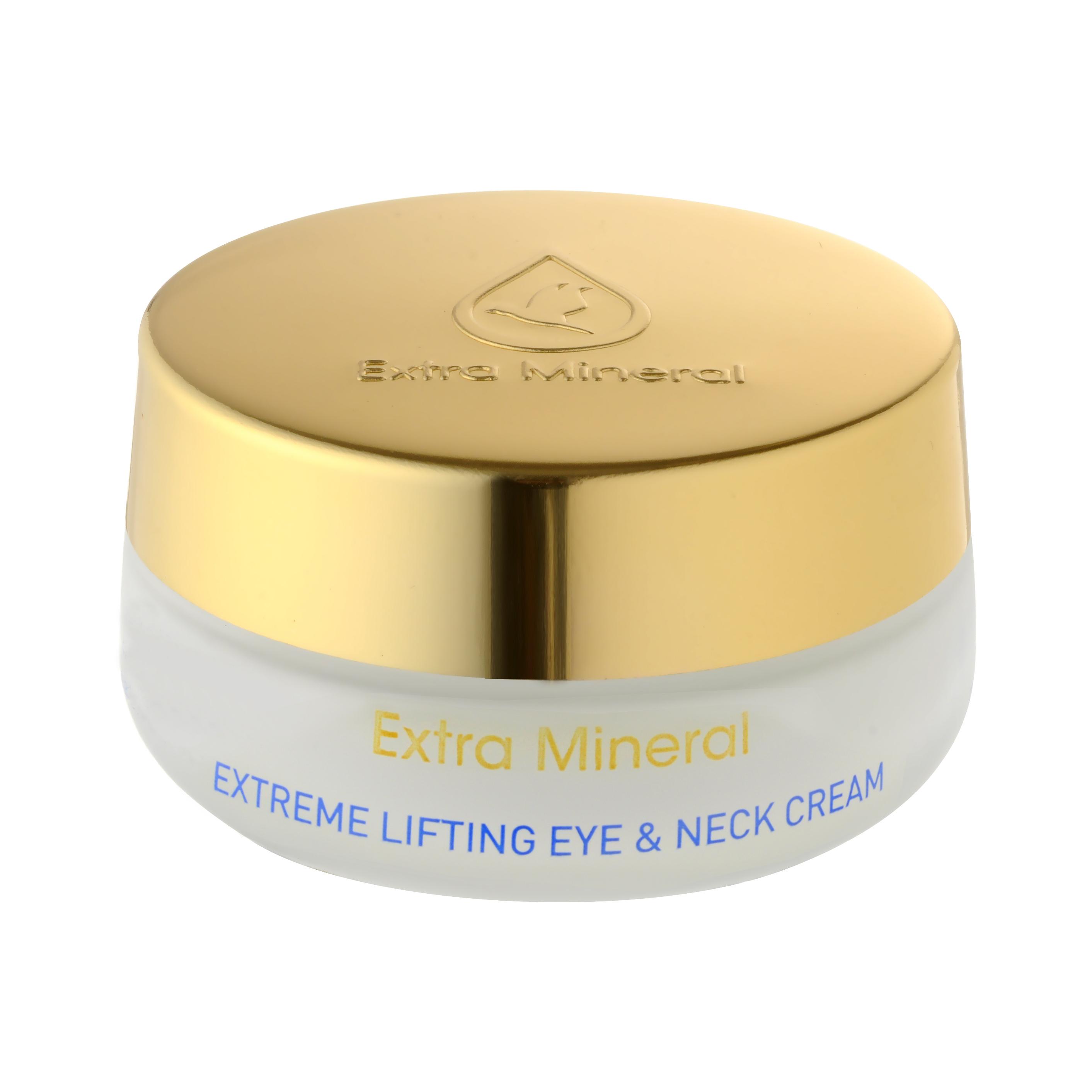 Extra Mineral Интенсивный крем с подтягивающим эффектом для кожи вокруг глаз и шеи 50 млEXM1501Мгновенный видимый лифтинговый эффект при использовании активного лифтинг-крема Extra Mineral. Минералы Мертвого моря, витамины А, В5, витамин красоты Е и цветочные экстракты обеспечивают глубокое питание для нежной кожи шеи шеи и области глаз. Мощный эффект омолаживающего крема виден сразу после первого применения. Рекомендуется ежедневное применение.