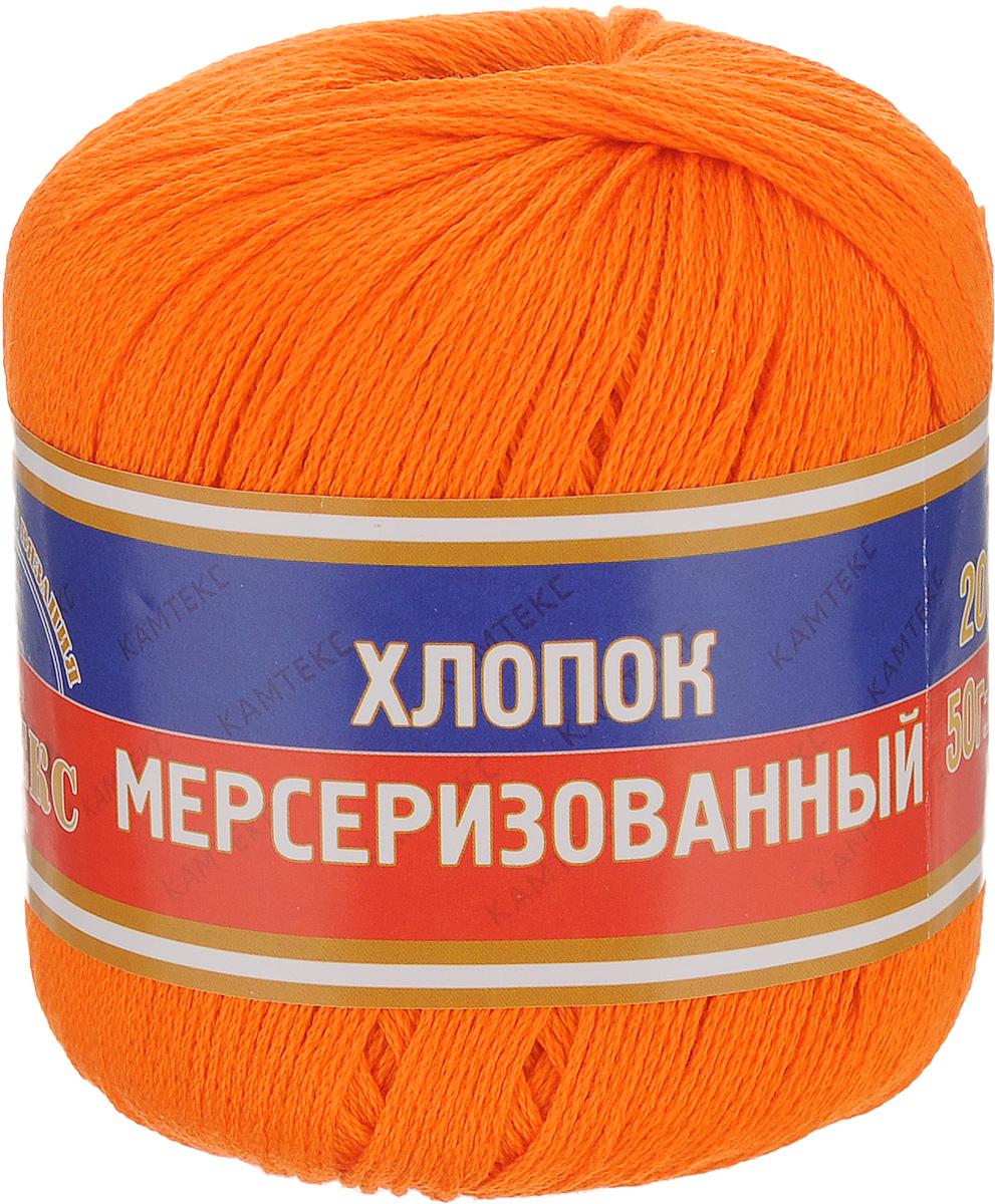 Пряжа для вязания Камтекс Хлопок мерсеризованный, цвет: апельсиновый (068), 200 м, 50 г, 10 шт136093_068Пряжа для вязания Камтекс Хлопок мерсеризованный изготовлена из 100% хлопка. Лучшие свойства мерсеризованного хлопка: - благодаря тому, что хлопок прошел обработку под названием мерсеризация, пряжа приобретает блеск, ее легко окрасить в яркие устойчивые цвета; - мерсеризованные нити прочнее обычных, а изделия из них меньше мнутся при носке и не садятся при стирке. Ниточка довольно легкая, немного скользит, но к этому можно быстро привыкнуть, тогда процесс вязания превратится в удовольствие. Внешний вид пряжи вызывает настоящее эстетическое наслаждение, приятно смотреть на ровную, гладкую, в меру блестящую нитку. Цветовая гамма богатая, насыщена всевозможными оттенками. Мерсеризованный хлопок подойдет для ручной и машинной вязки, внешний вид полотна будет на самом высшем уровне. Такая пряжа предназначена для вязания блузок, футболок, платьев и многого другого. Летние и межсезонные изделия из этой пряжи украсят гардероб любой модницы....