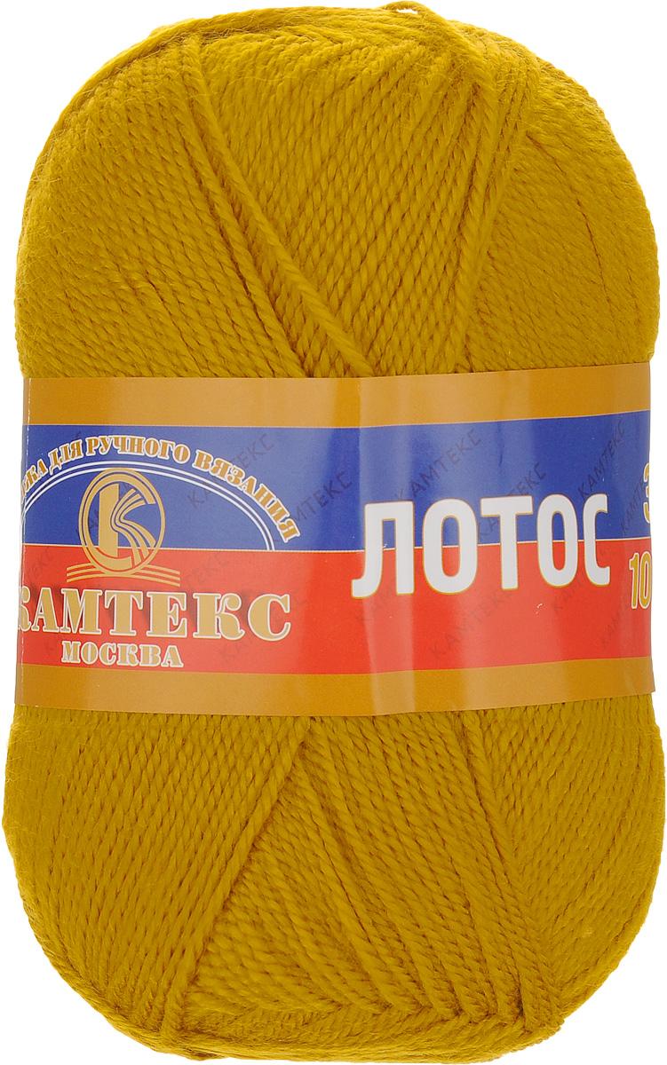 """Пряжа для вязания Камтекс """"Лотос"""", цвет: горчица (033), 300 м, 100 г, 10 шт"""