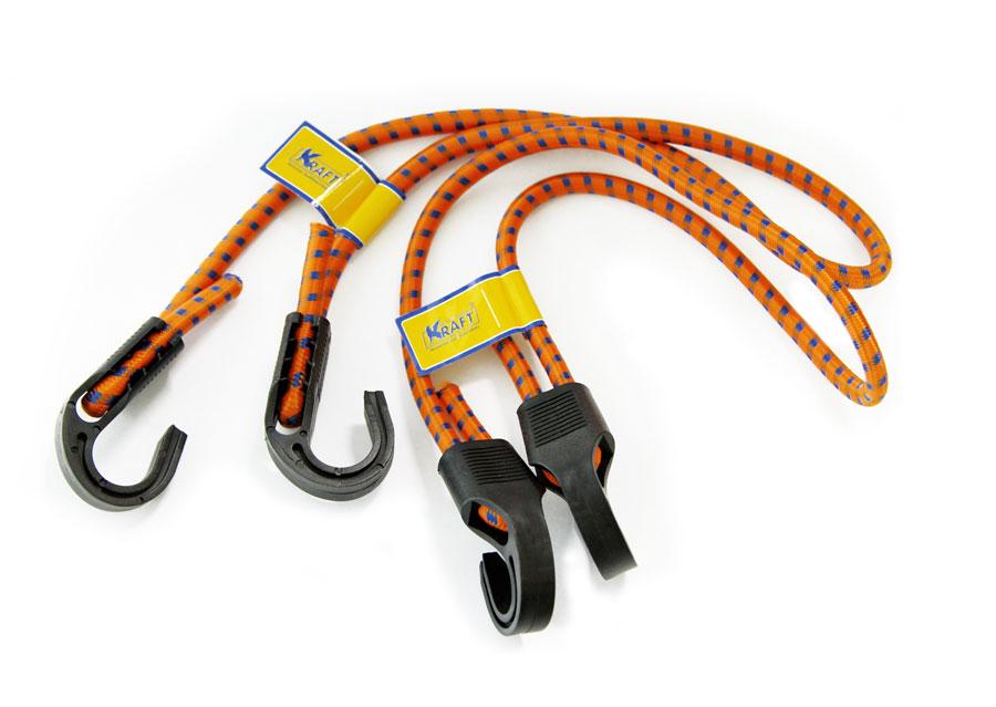 Набор резинок Kraft, 2 штКТ 86000280 см,D=8 мм(пласт.крючки) меняется длина резинки