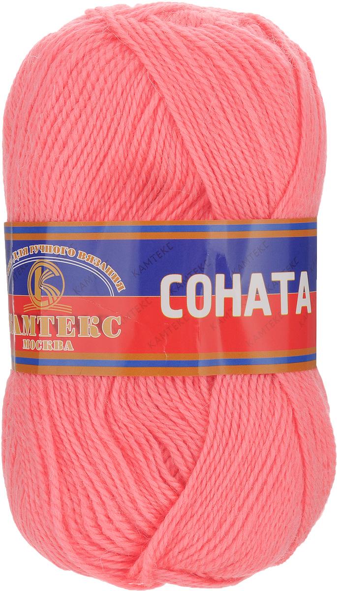 Пряжа для вязания Камтекс Соната, цвет: коралловый неон (116), 250 м, 100 г, 10 шт136030_116Пряжа для вязания Камтекс Соната изготовлена из 50% шерсти, 50% акрила. Она вяжется легко и свободно, имеет богатую цветовую гамму от теплых пастельных тонов до ярких и смелых оттенков. Ворсистая ниточка ровно складывается в полотно, которое имеет минимальный процент усадки. Из пряжи Соната прекрасно вяжутся теплые туники, жилеты, свитера, платья и многие другие изделия. Рекомендуемые для вязания спицы и крючки 3-5 мм. Состав: 50% шерсть, 50% акрил. Комплектация: 10 шт. Толщина нити: 2 мм.